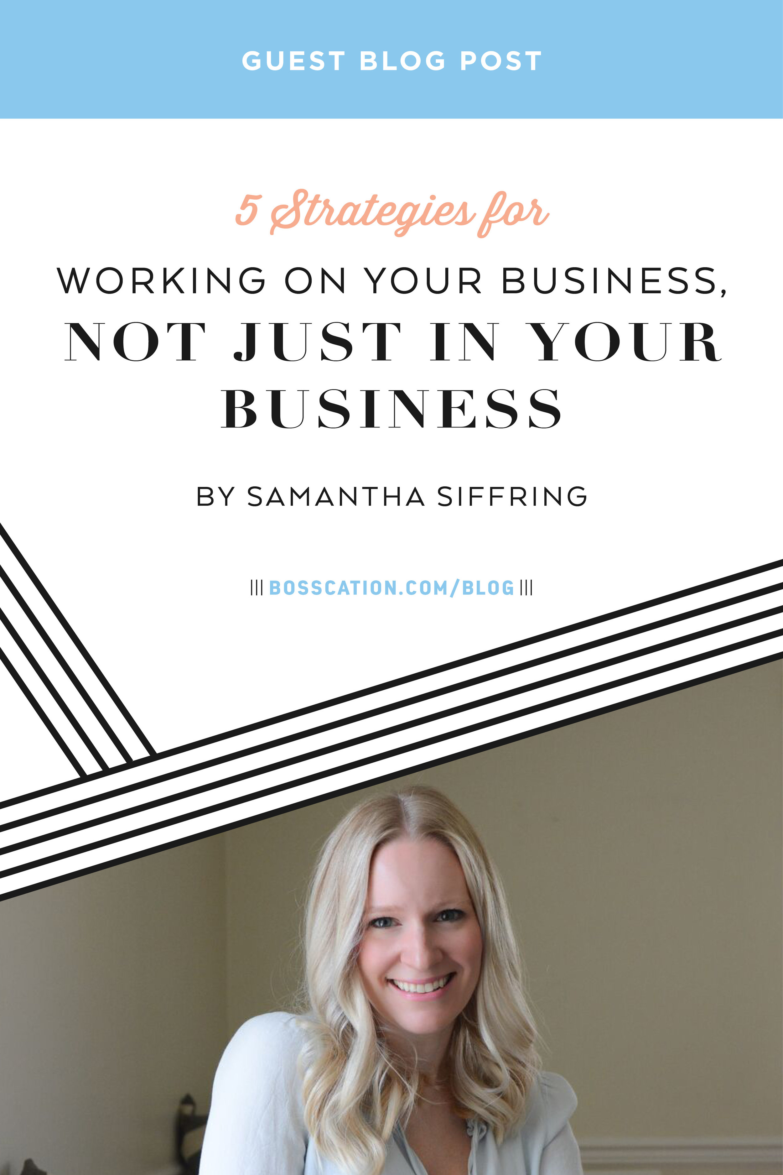 5 strategies for working ON your business, not just IN your business. Prepare your business with systems, processes, management and vision-casting so your business doesn't run out of income when your current clients dry up.