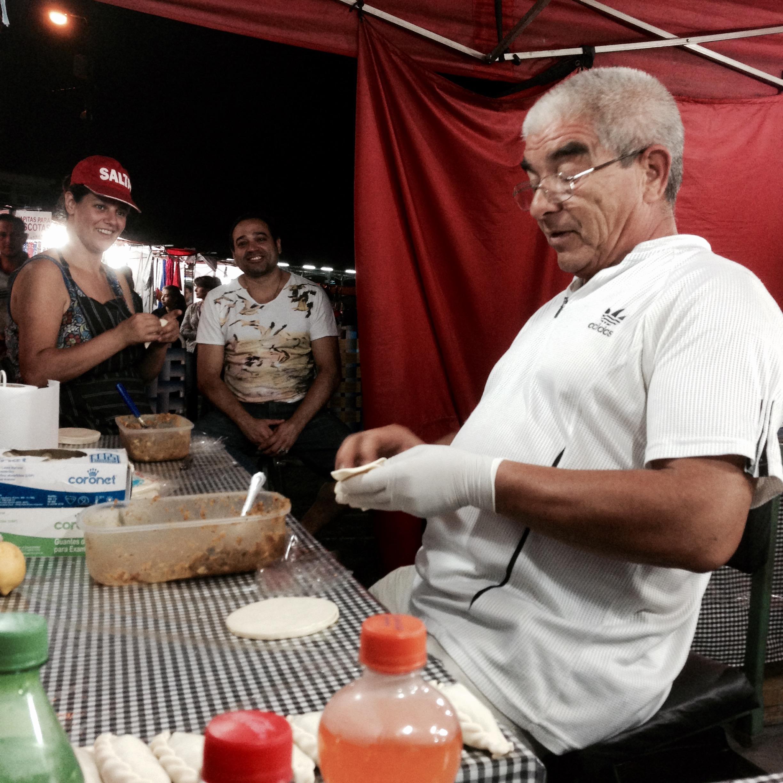 Verkopen van empanadas in Buenos Aires