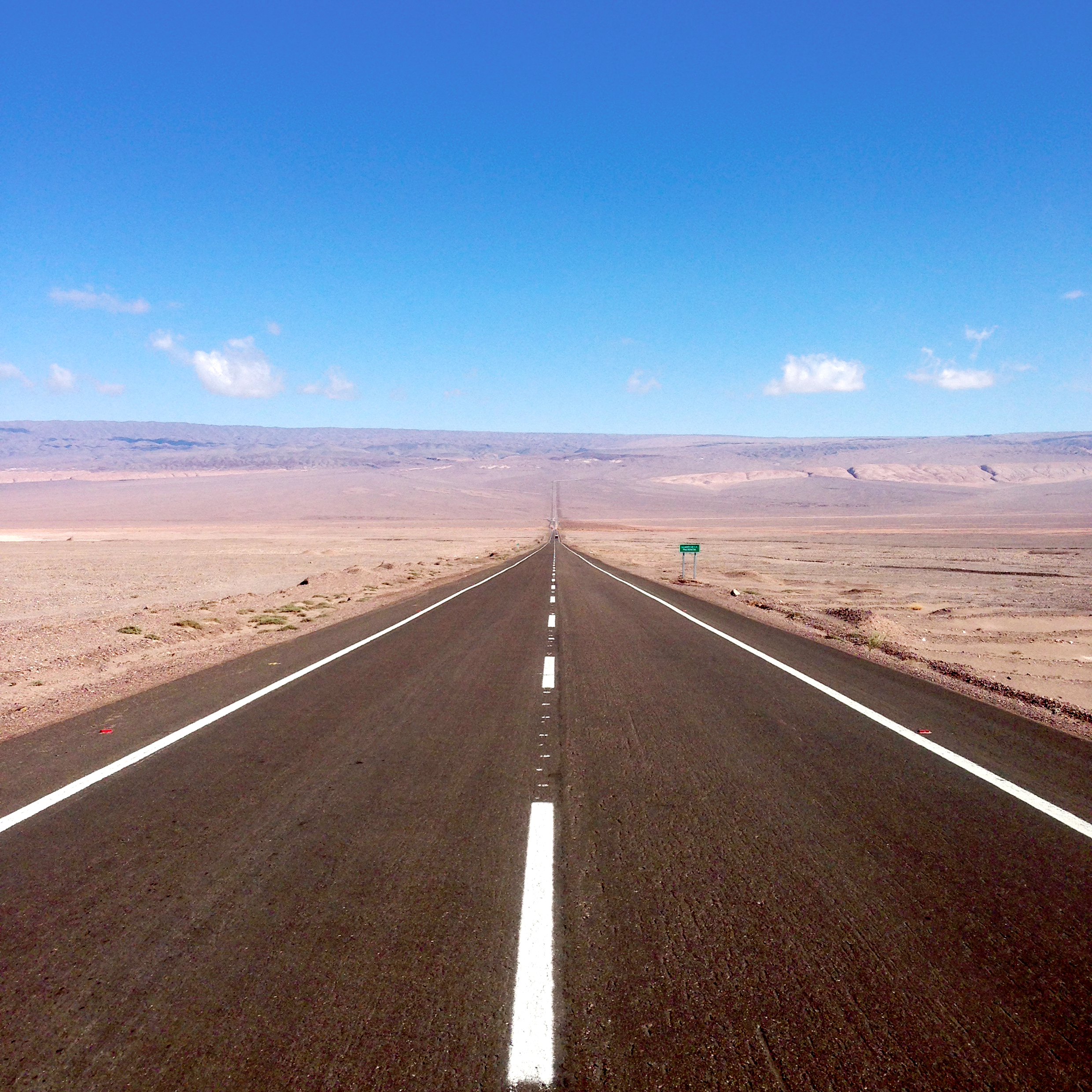 Empty roads in northern Chile