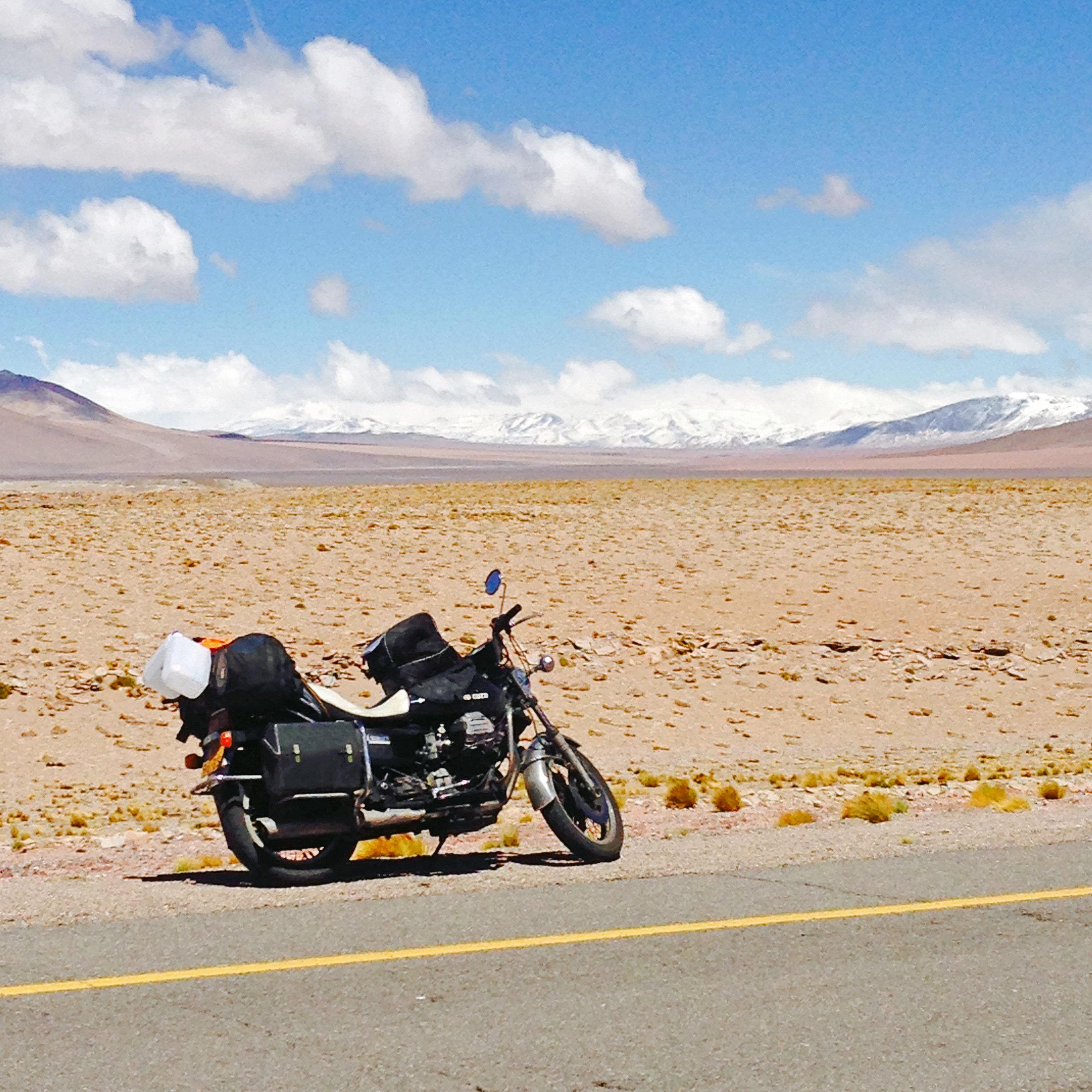 Op de grenspas tussen Argentinië en Chili