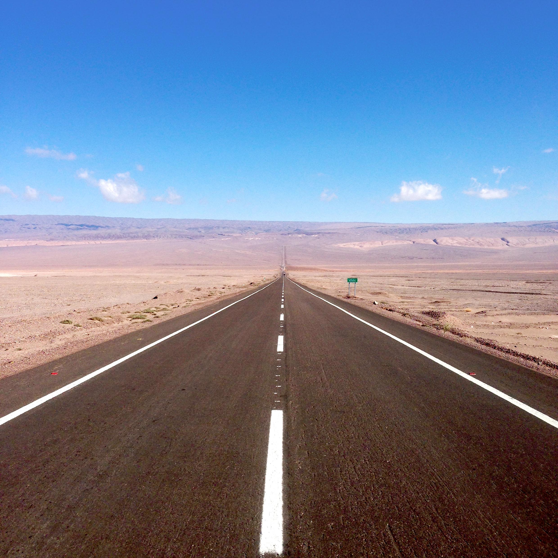 Eindeloze wegen in Chili