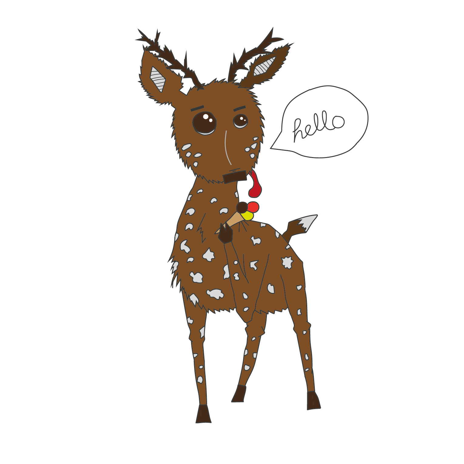 Diego the Deer eats ice-cream   2016 Digital illustration 15645 px x 11462 px  More information