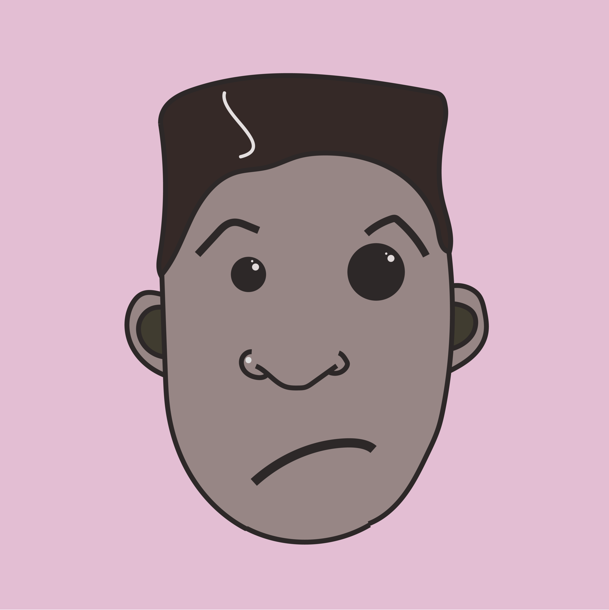 Frowning Fred  2018 Digital illustration 8000 px x 8000 px  More information