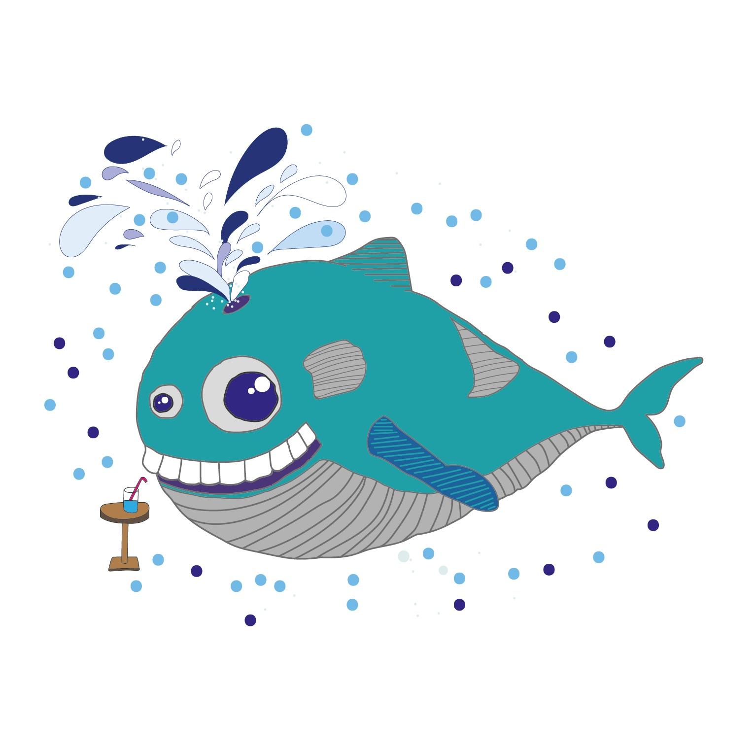 Hugo the Whale  2016 Digital illustration 1190 px x 840 px  More information