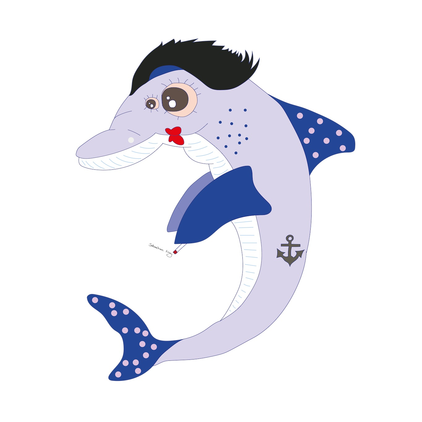 Dee the Dolphin  2017 Digital illustration 12000 px x 12000 px  More information