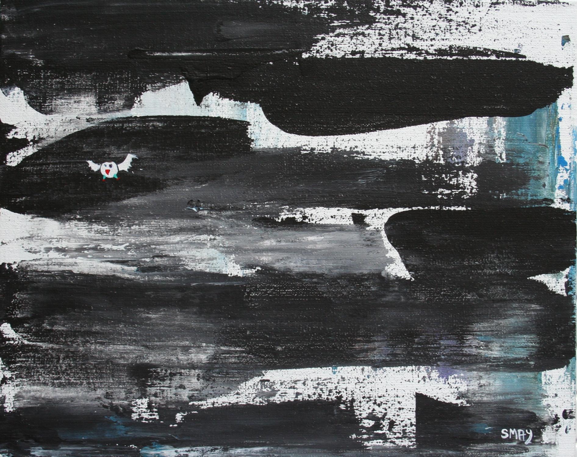 Black and Bite  2009 Acrylics on canvas 24 x 30cm