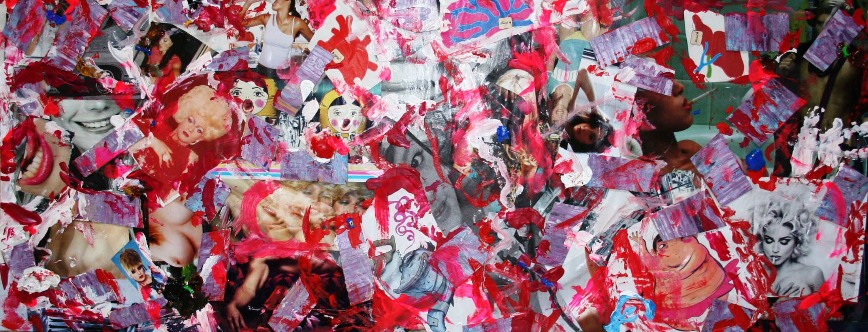 peep show  2009 Mixed media collage