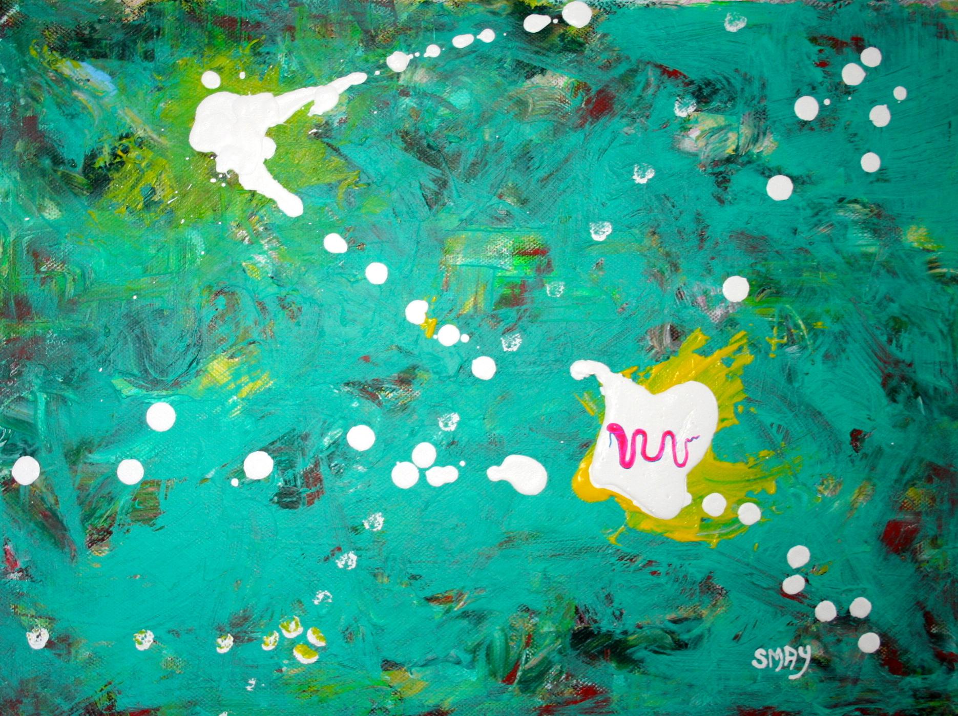 Constellation snake  2011 Acrylics on canvas 40 x 30cm