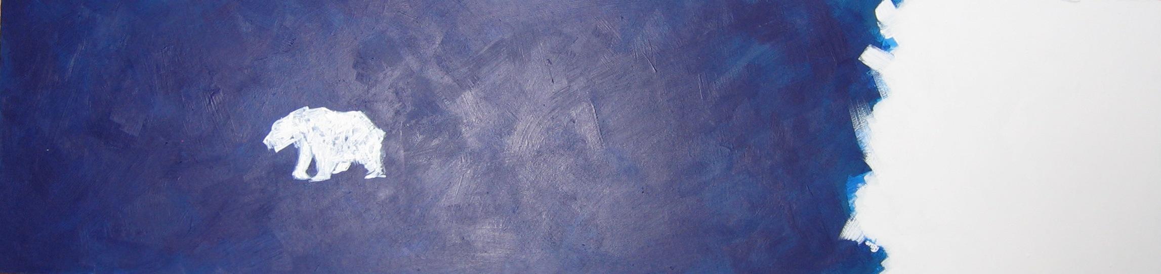 ice bear berg  2008 Acrylics on wood 160 x 40cm