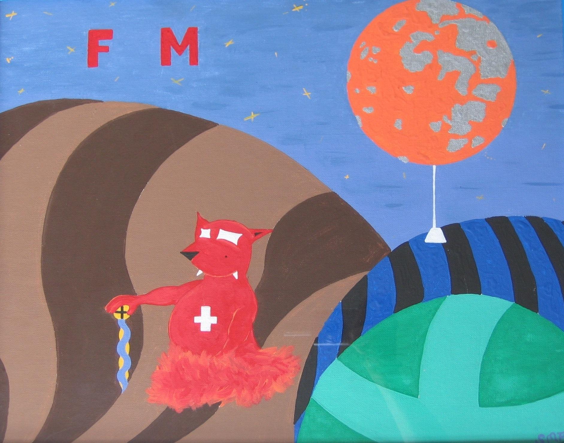 Full Moon  2003 Acrylics on canvas 57 x 47cm
