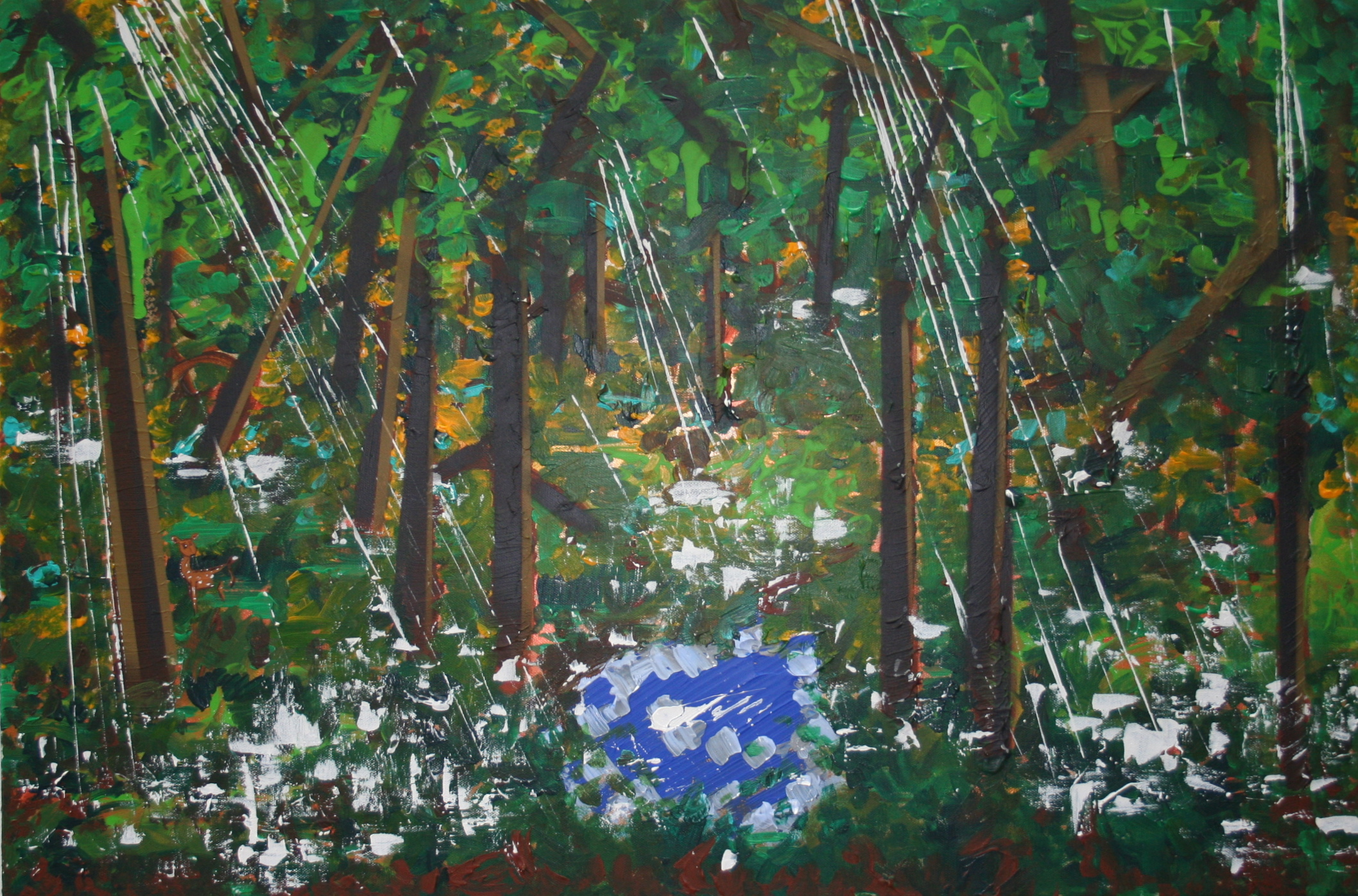 In the Forest  2013 Mixed media on canvas
