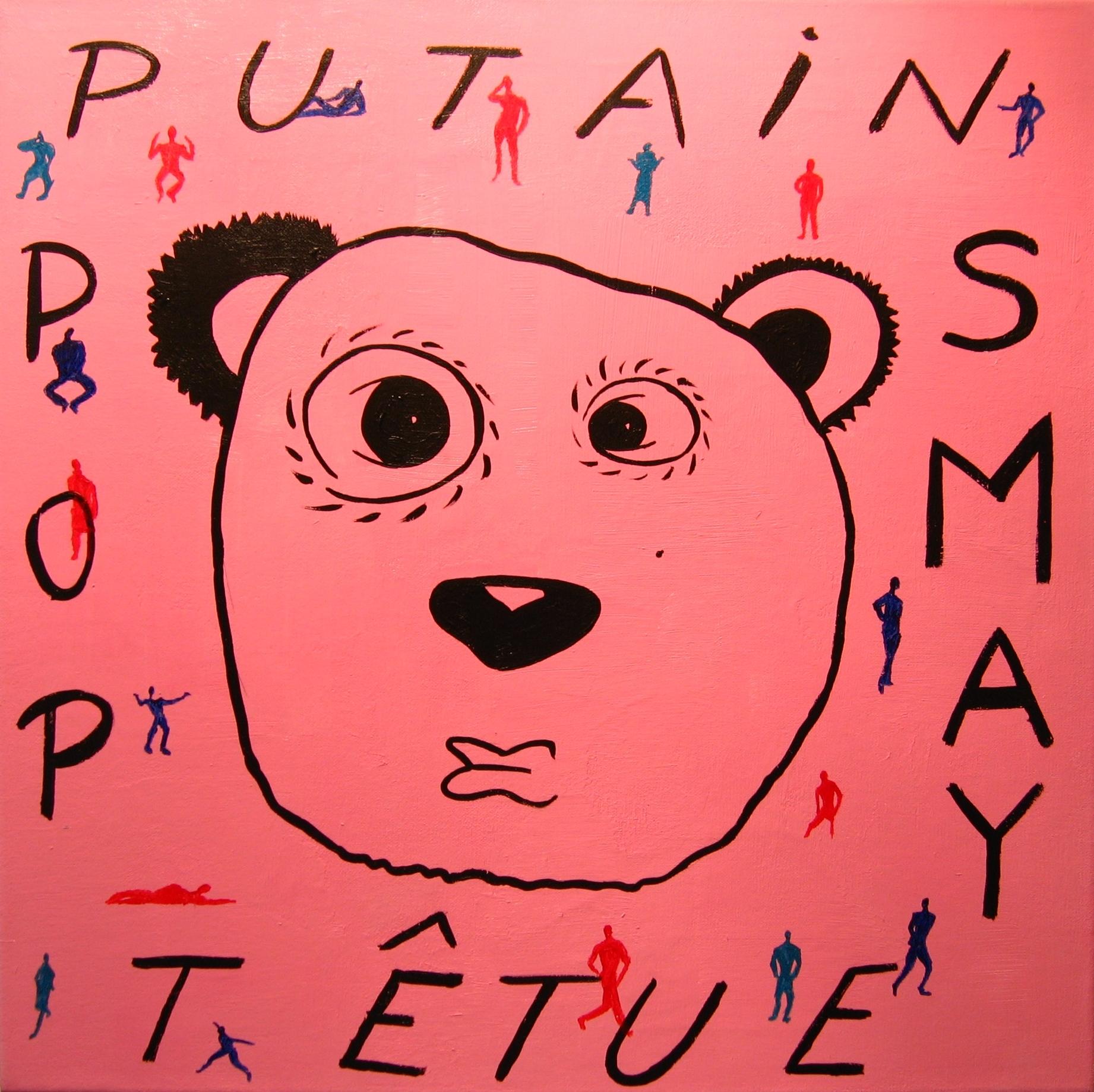 Pop Panda One  2007 Acrylics on canvas 50 x 50cm