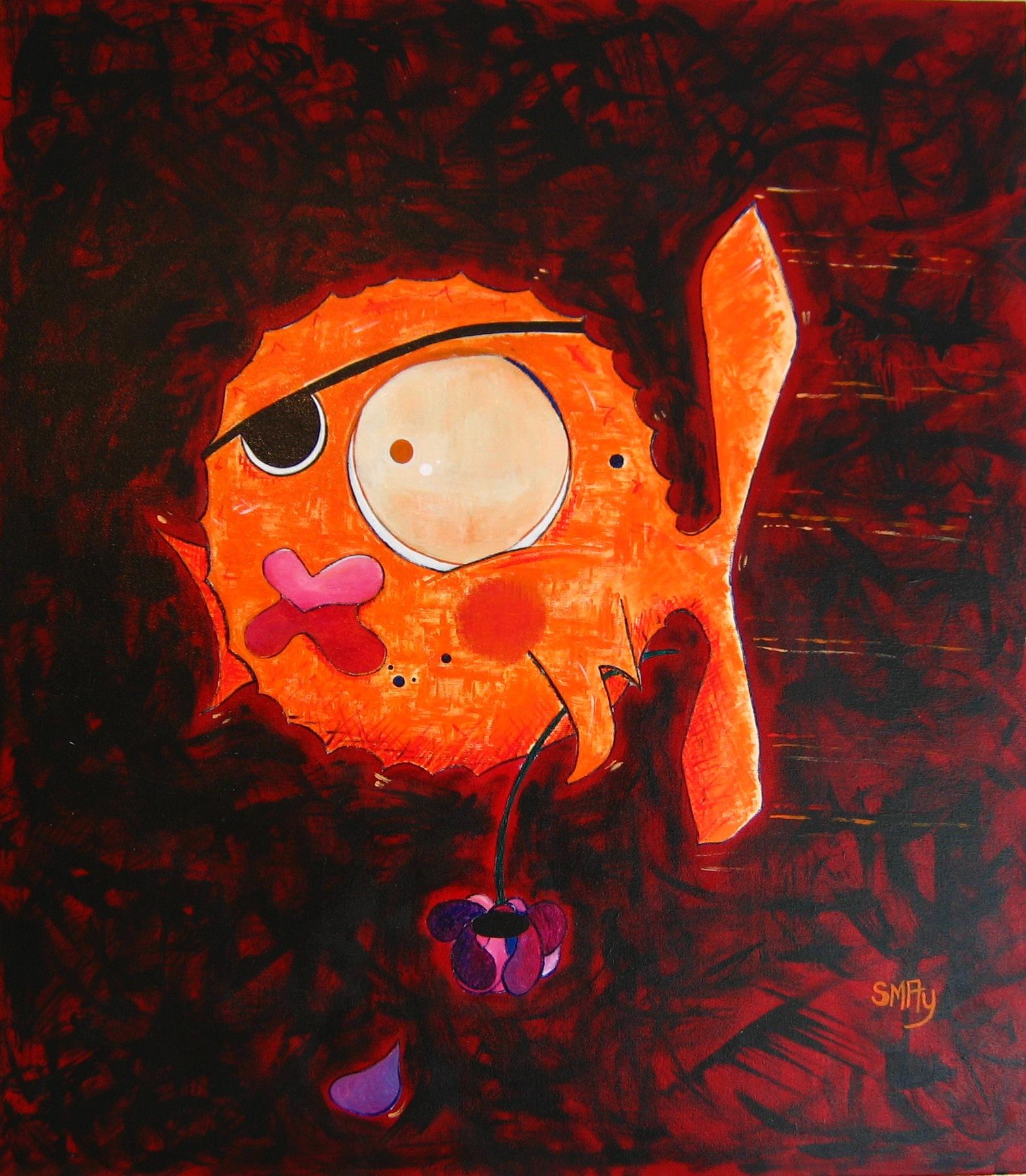 Take A Blood Bath With Me 1  2008 Acrylics on canvas 71 x 79.5cm