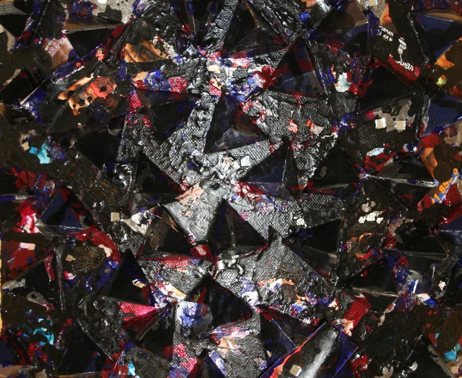Hurt Me (black)  2010 Mixed media on canvas 30 x 24.5 x 5cm