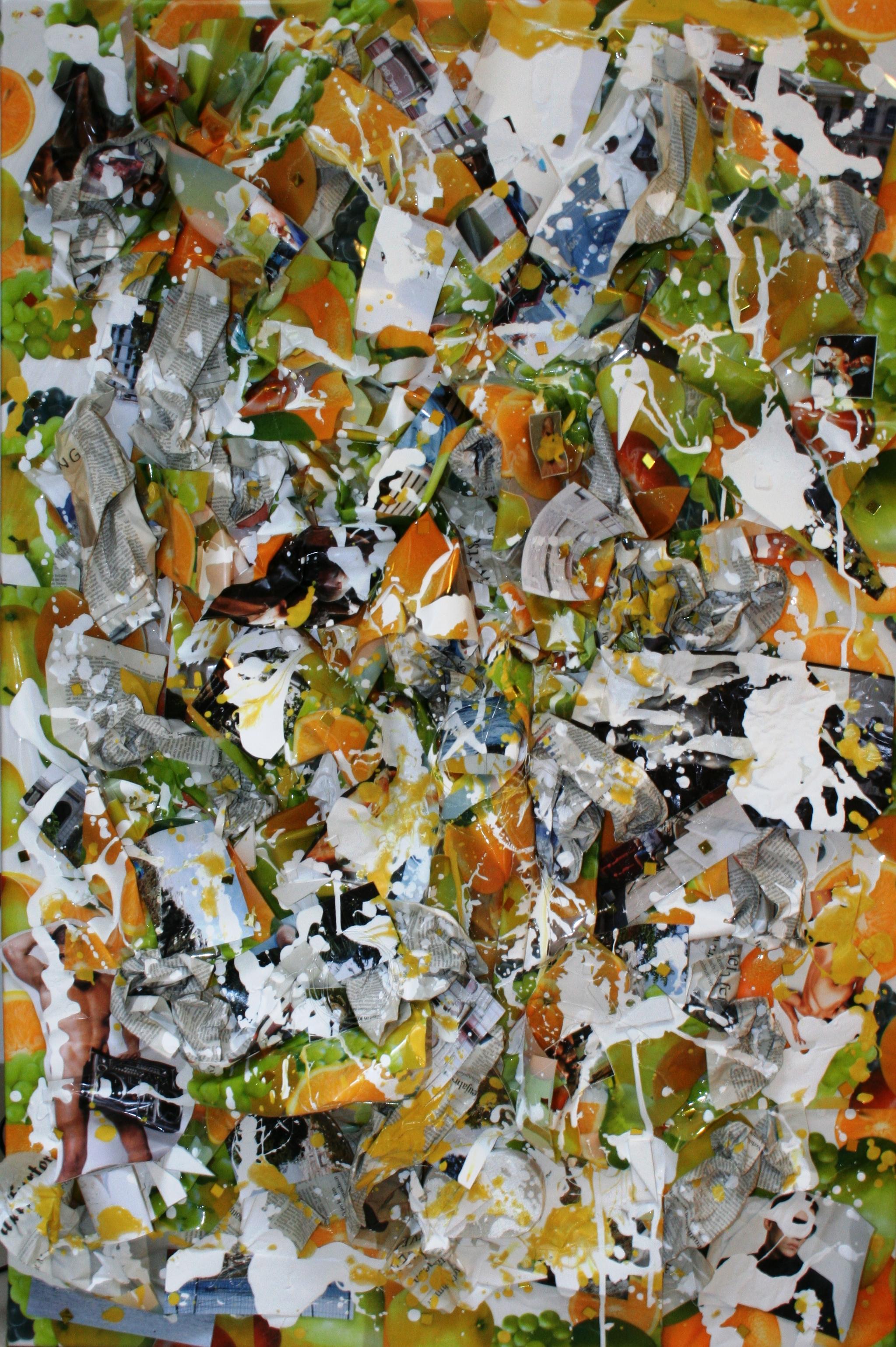 Hawaii Overboard (green)  2010 Mixed media on canvas 85.5 x 121.5cm