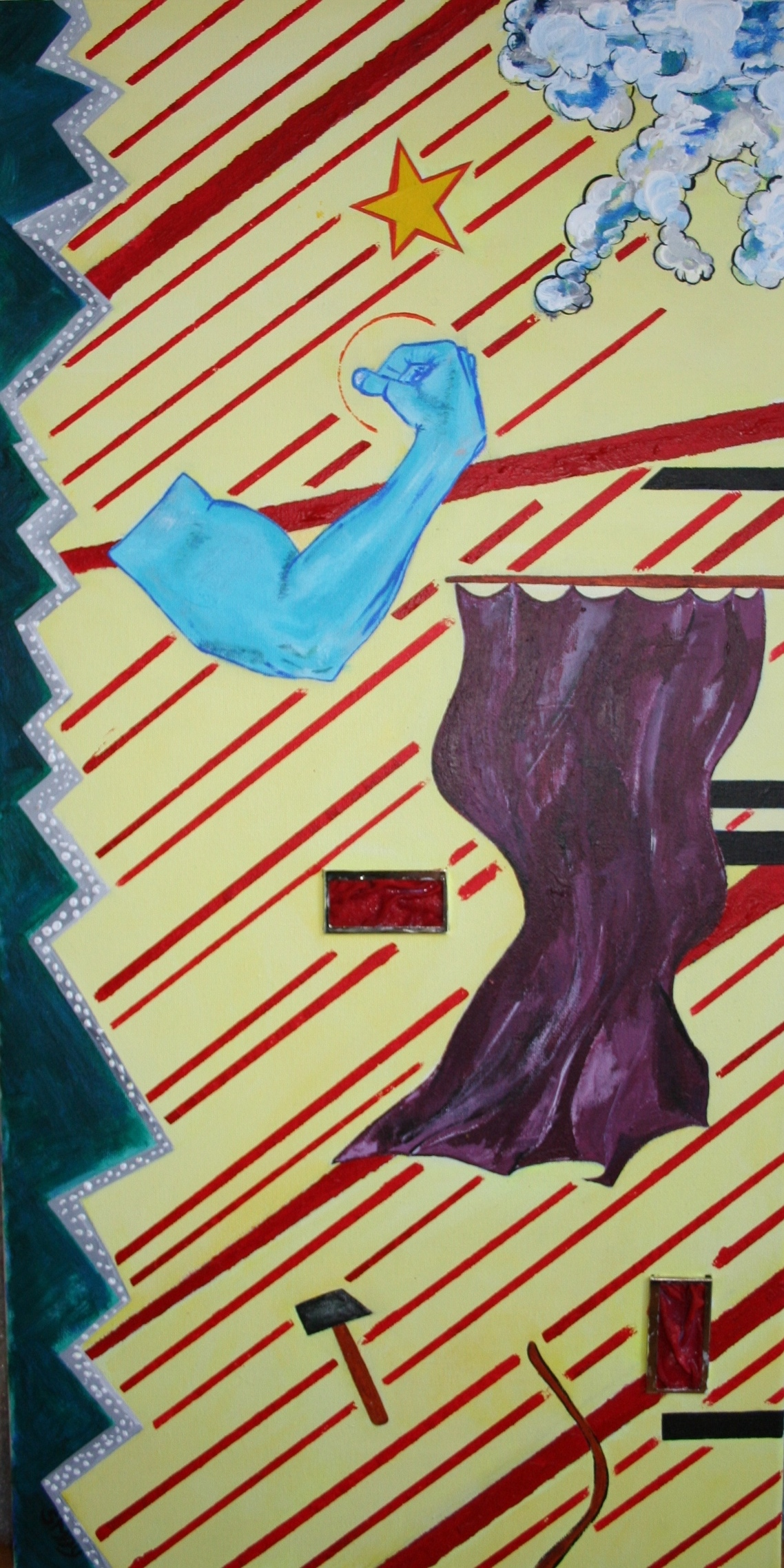 Magic (Part 1)  2009 Mixed media on canvas