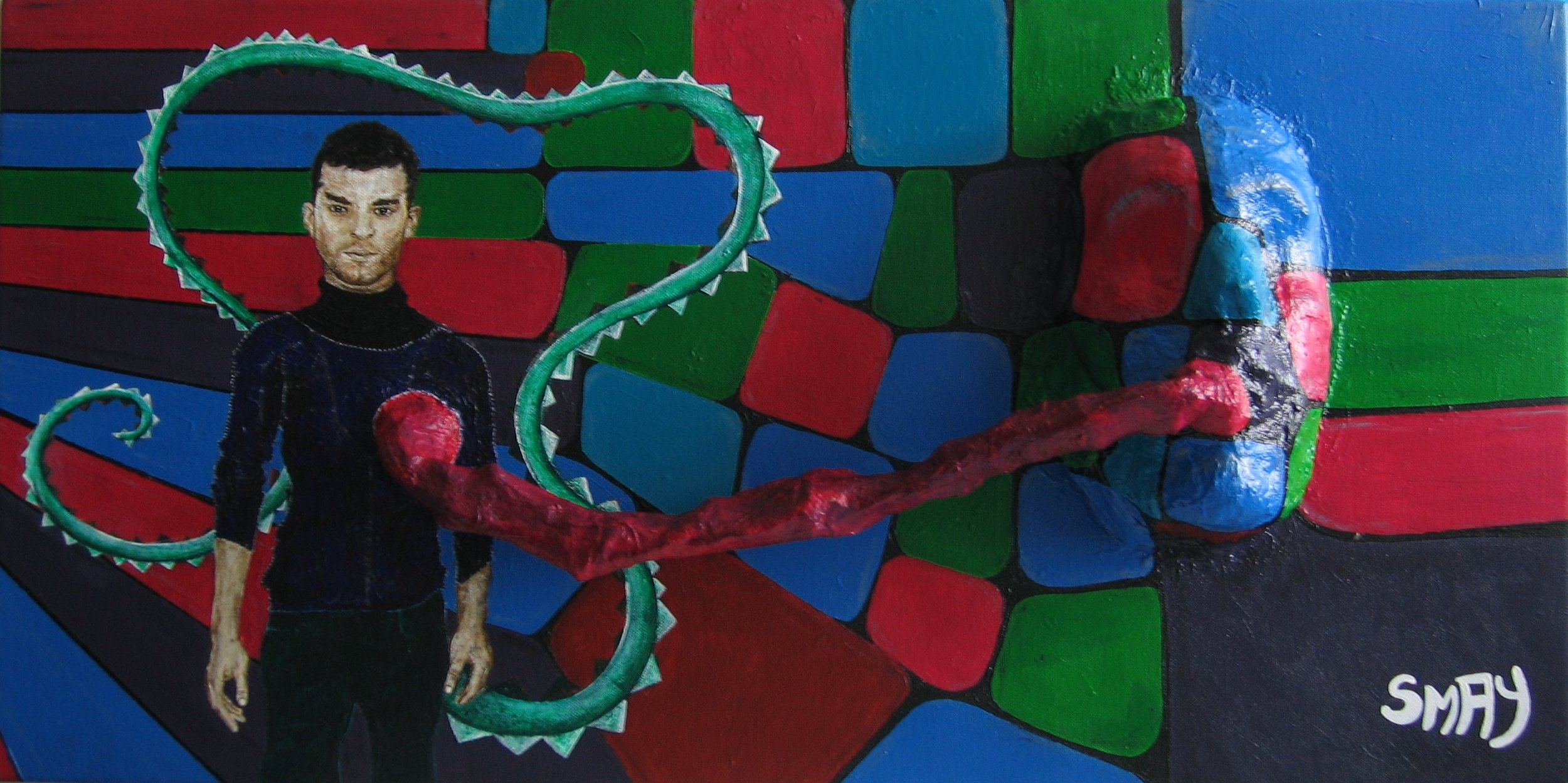 Little Dragon  2006 Mixed media on canvas 80 x 40cm