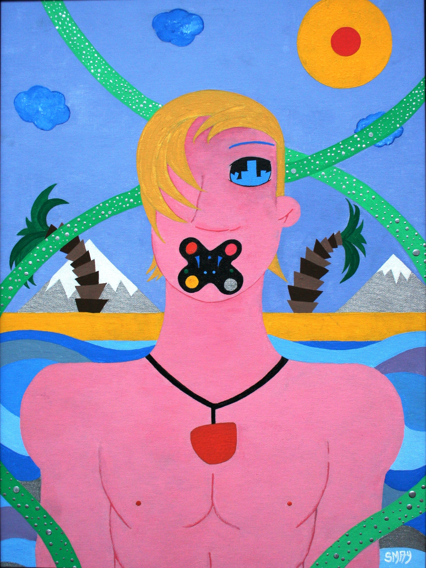 Restless  2003 Acrylics on canvas 48 x 63.5cm