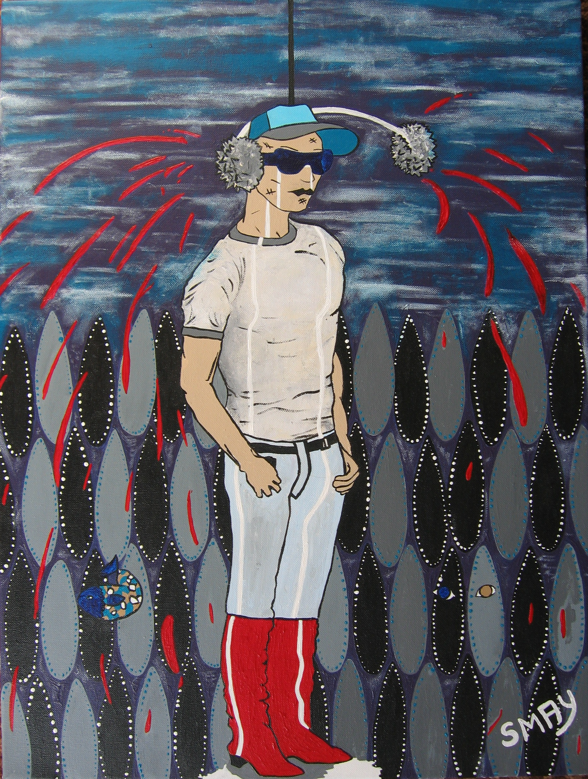 Fashionably Dead  2007 Acrylics on canvas 56 x 71cm