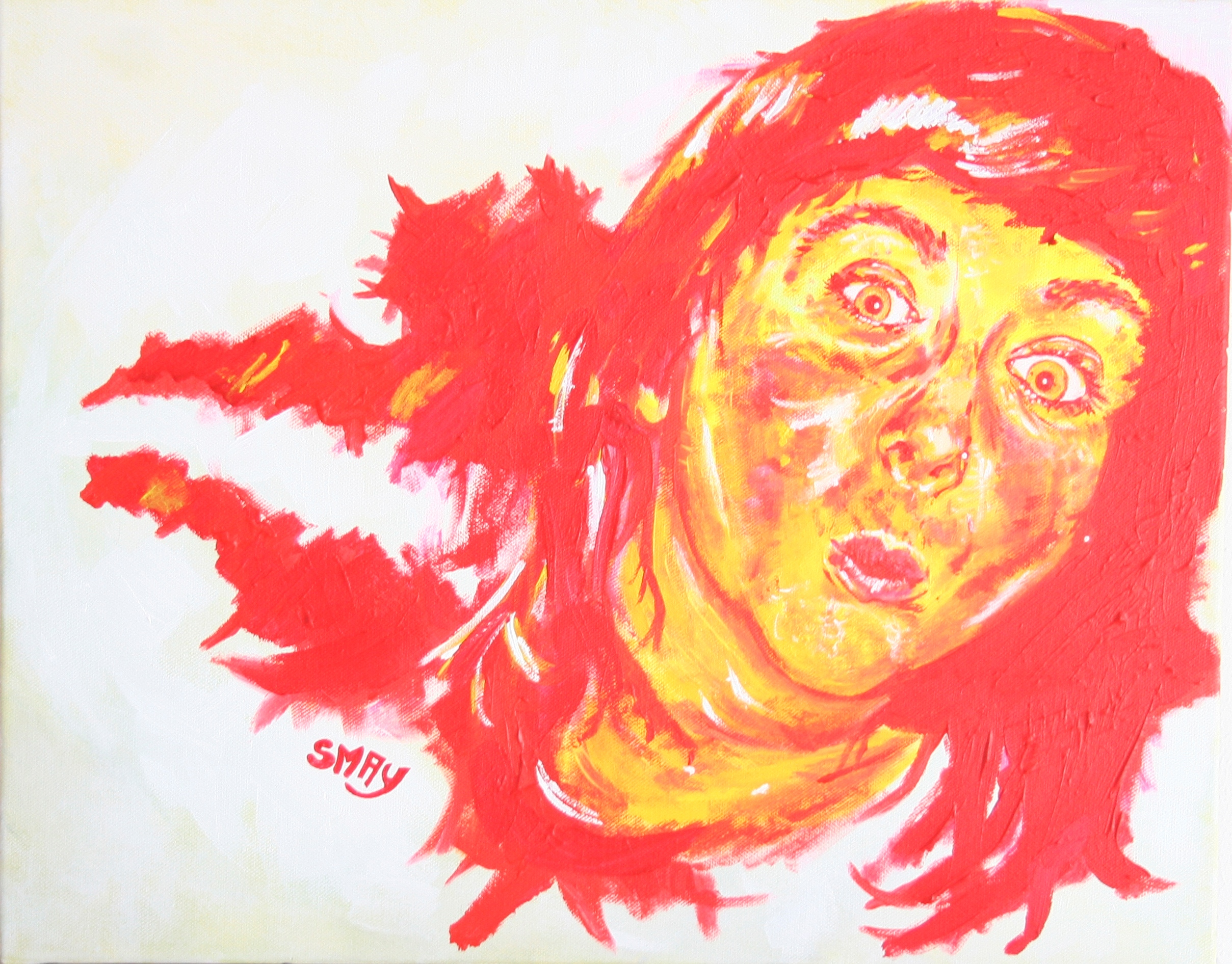 The Ketchup-Haired Girl  2008 Acrylics on canvas 51 x 41cm