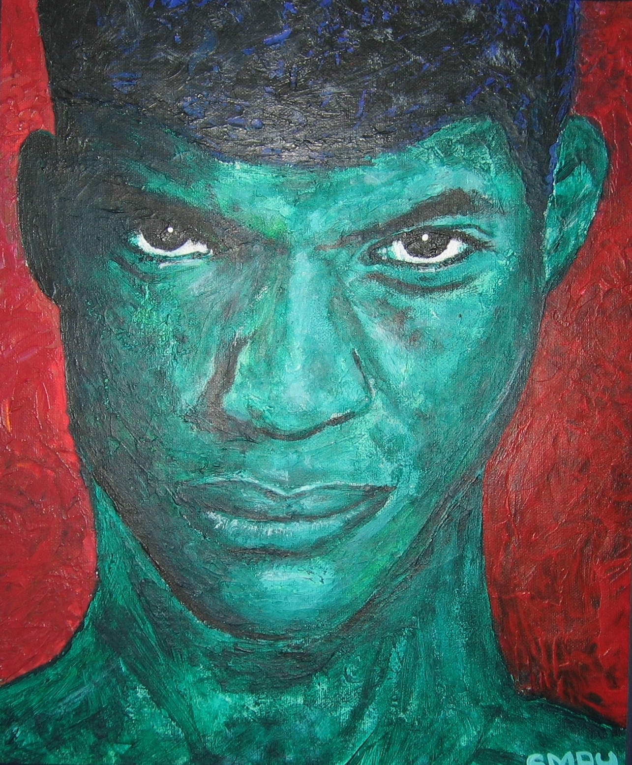Red Sky  2005 Acrylics on canvas 29 x 34cm