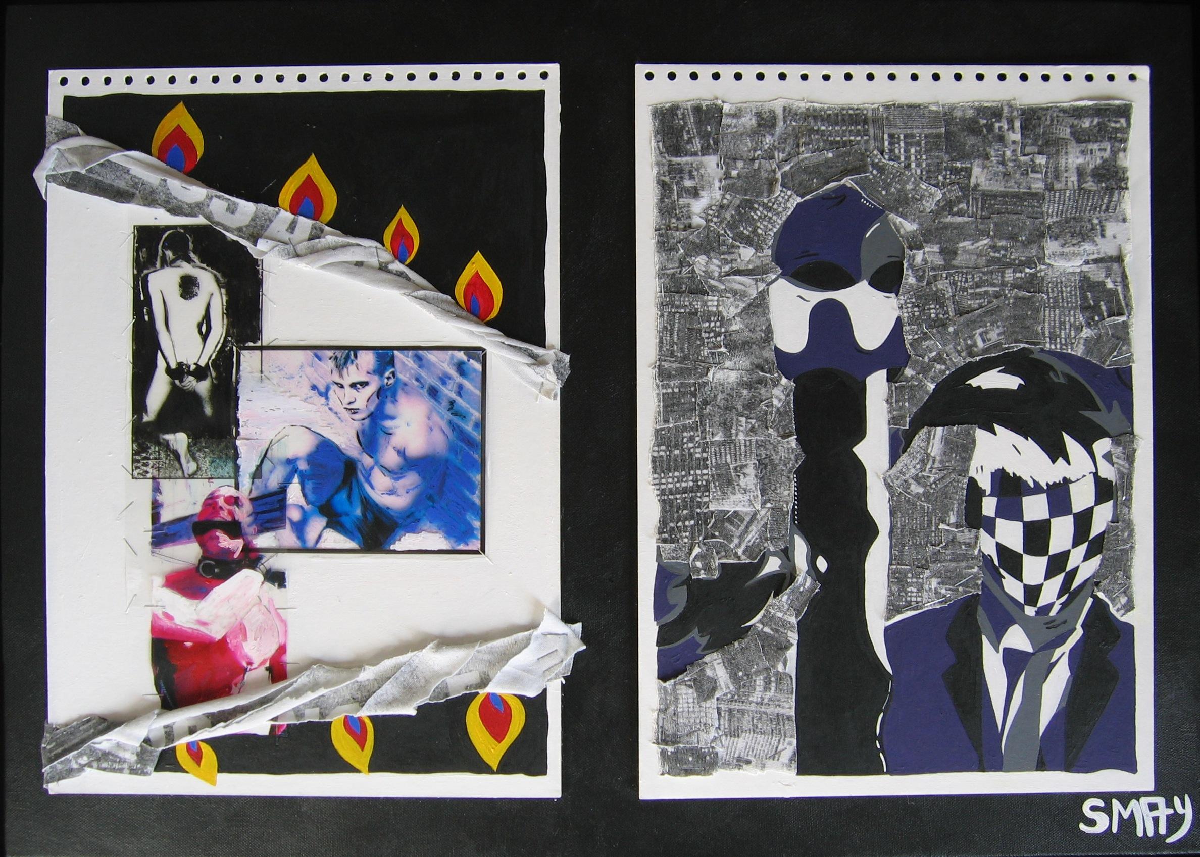 Escape  2007 Mixed media on canvas 75 x 55.5cm