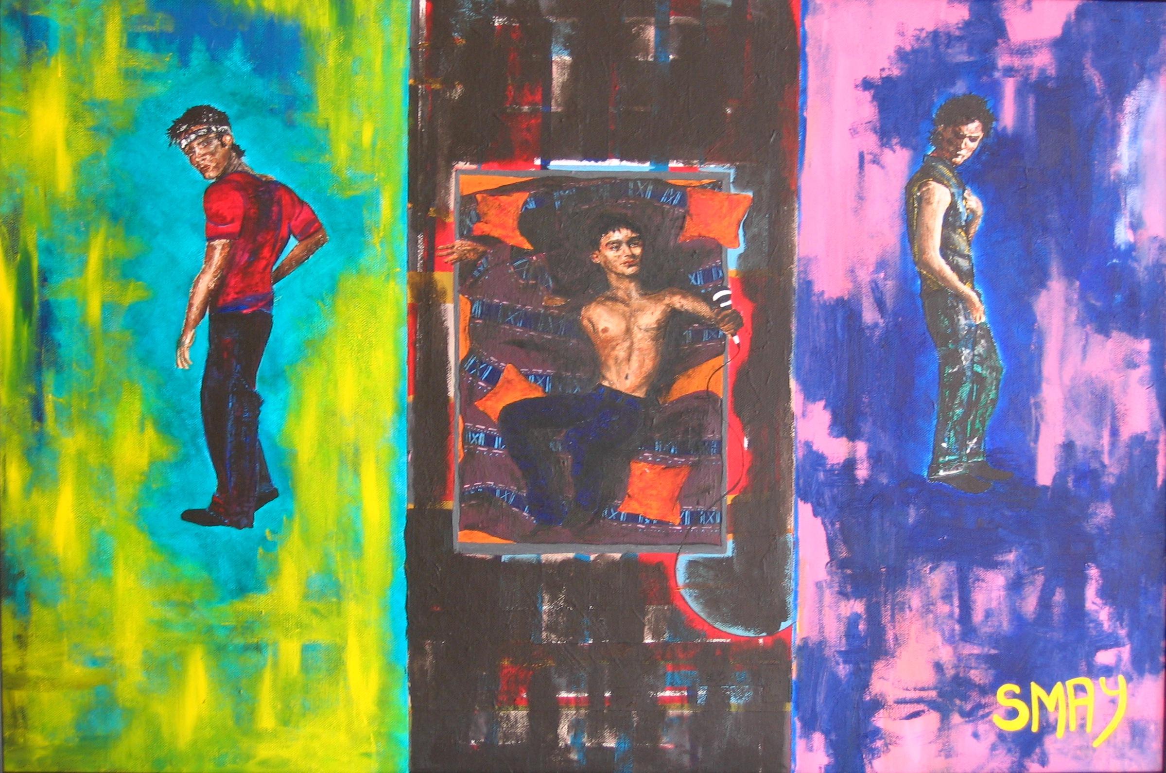 Escape  2007 Acrylics on canvas 80 x 55cm