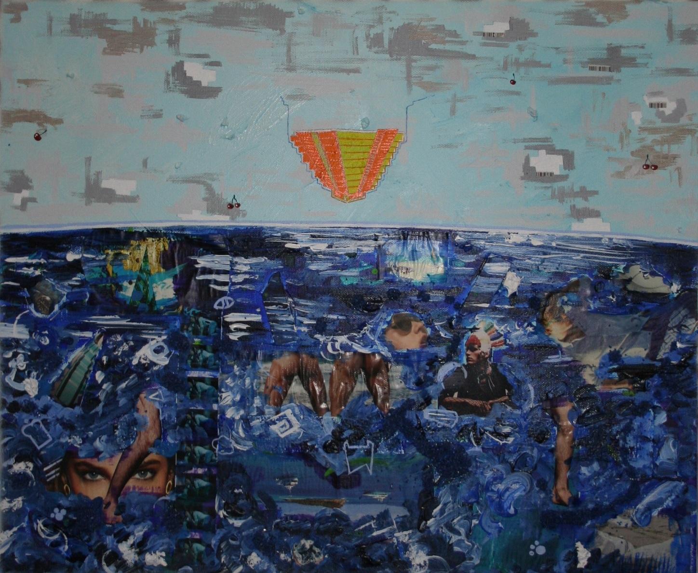 Atlantis (pyramid)  2012 Mixed media on canvas 62 x 51cm