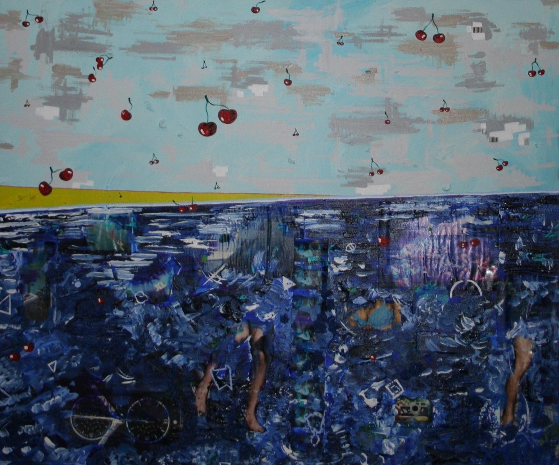 Atlantis (cherries)  2012 Mixed media on canvas 62 x 51cm