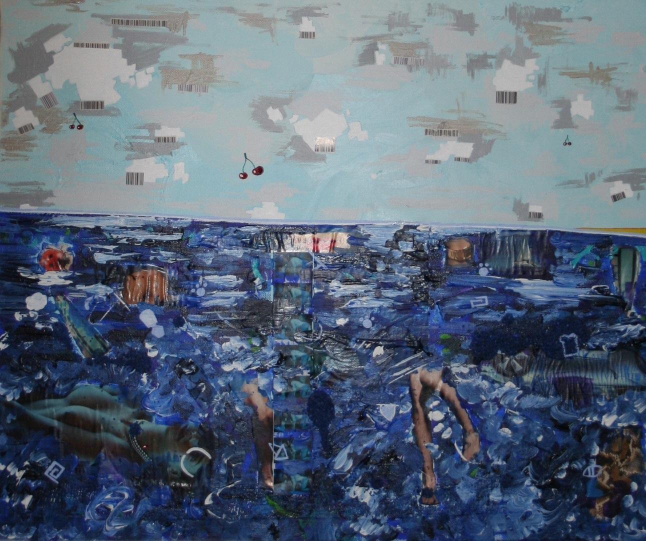 Atlantis (clouds)  2012 Mixed media on canvas 62 x 51cm