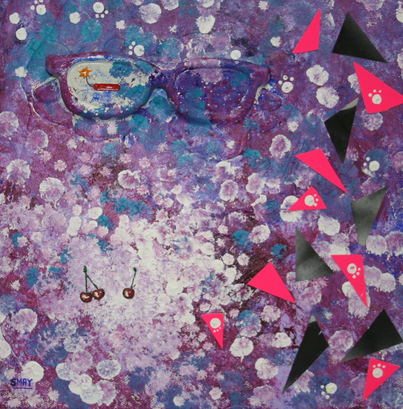Dynamite shades  2012 Mixed media on canvas   30 x 30cm