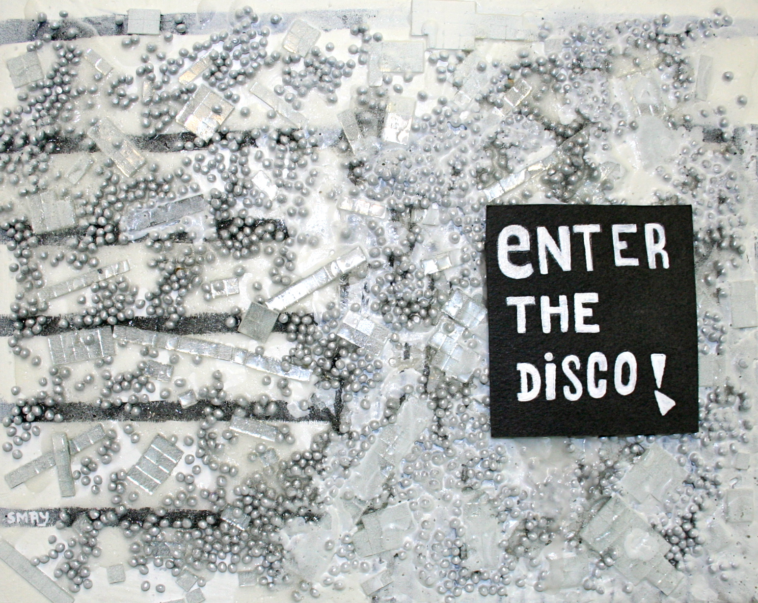 ENTER THE DISCO  2012 Mixed media on canvas   30 x 24cm