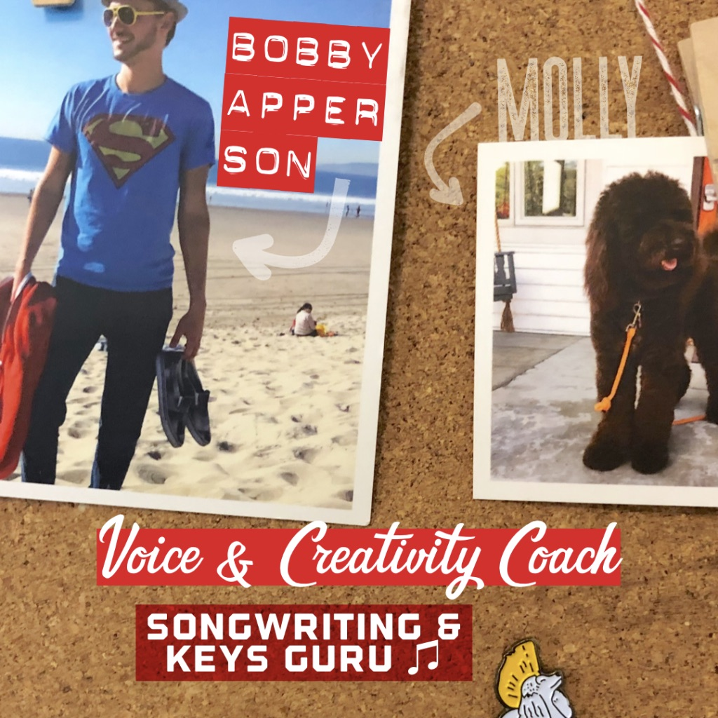 Bobby Apperson - Director & FounderVoice Coach • Piano & TheorySongwriting • Creativity CoachAries   @ba.songsmithLearn with Bobby ☞Silver Lake, Los Angeles