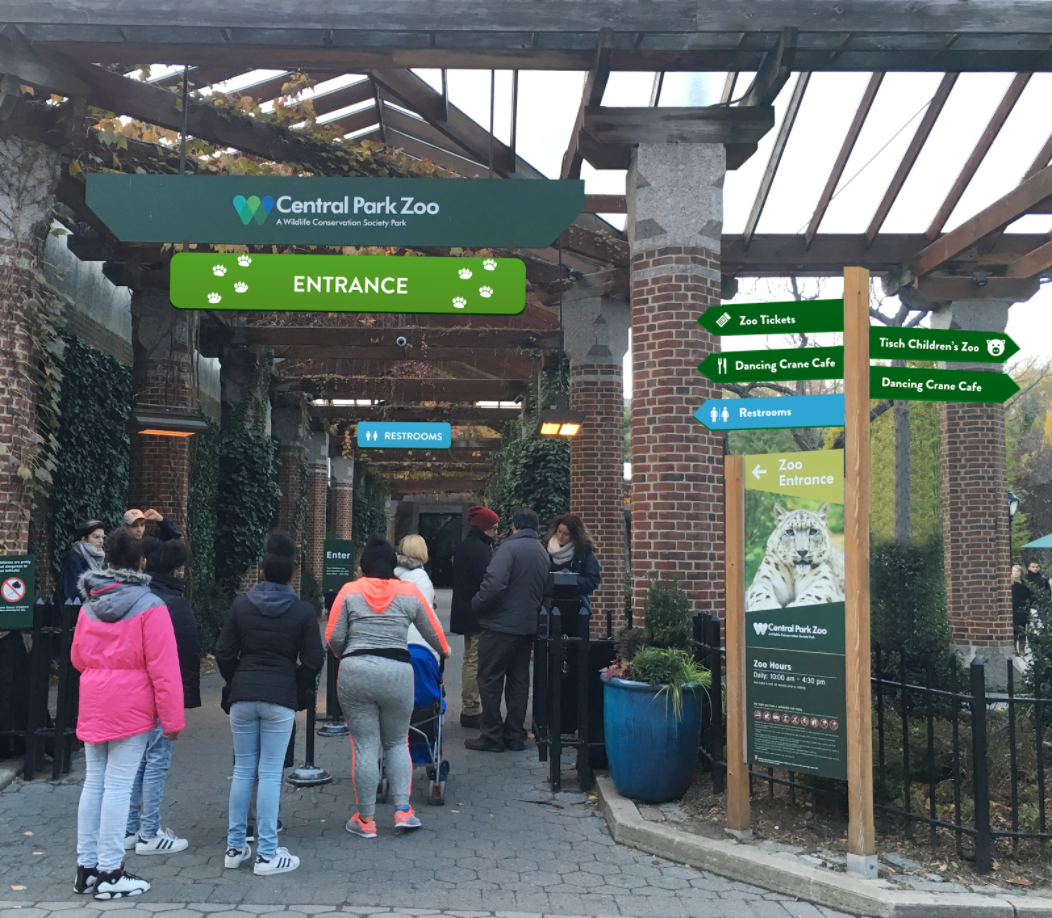 Primary Zoo Entrance & Direction Signs