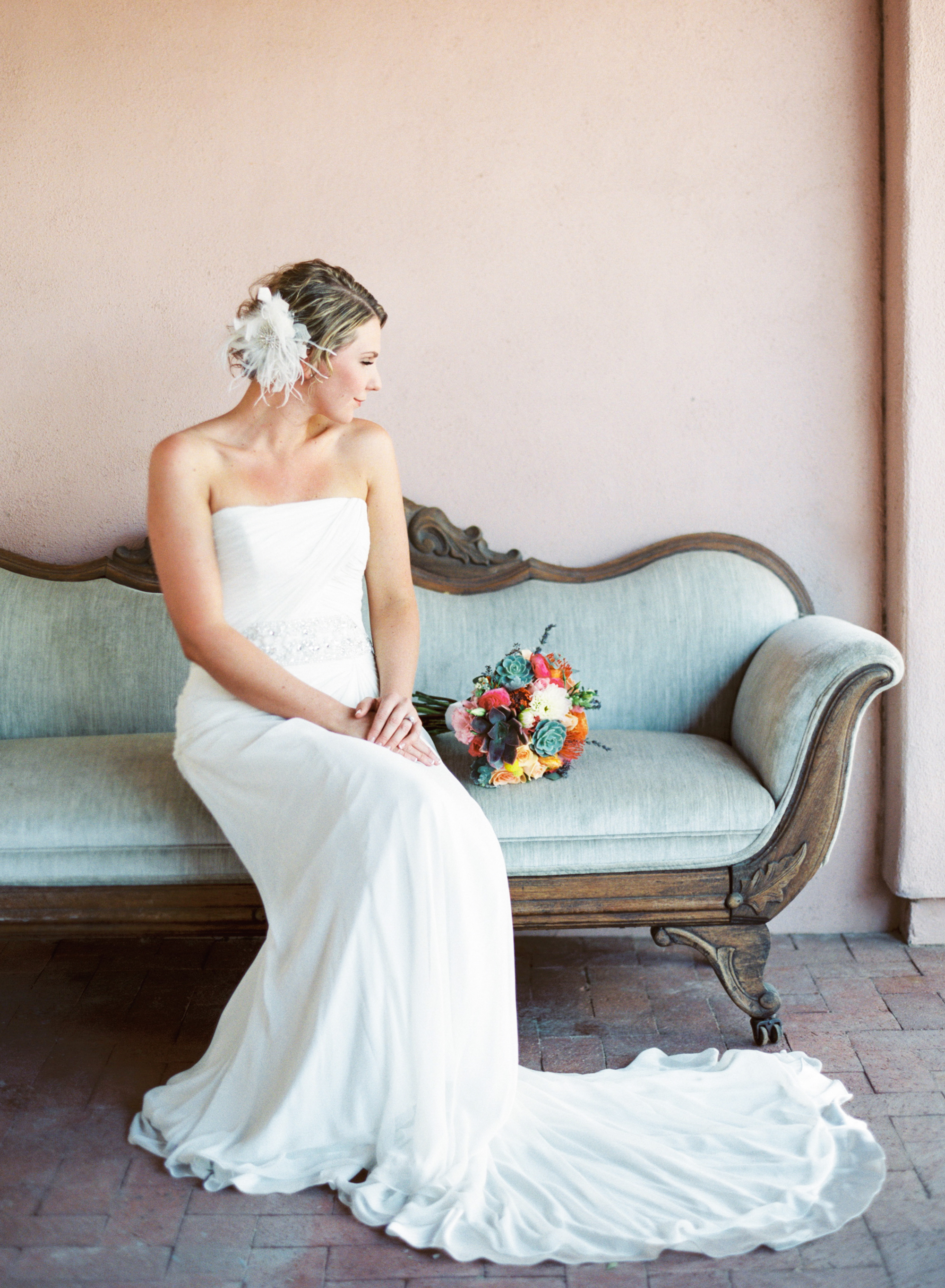 Bright and colorful spring Tucson wedding