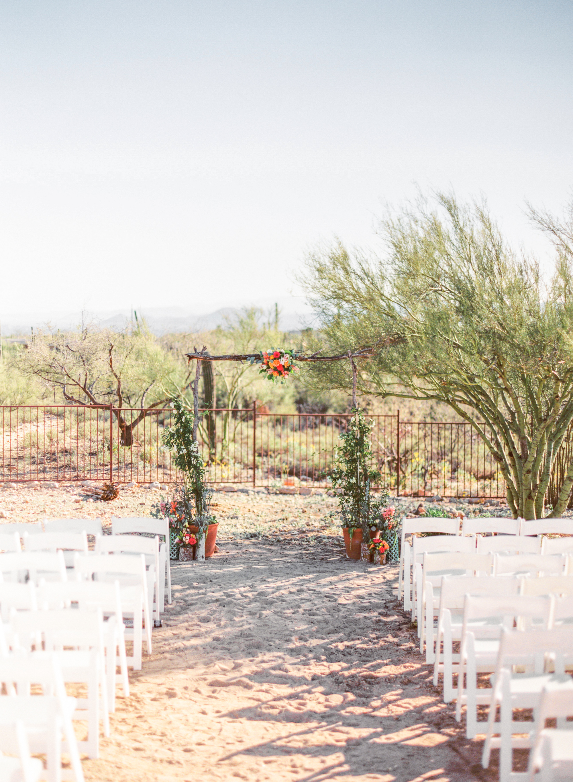 The bright and colorful backyard wedding of photographers Betsy & John