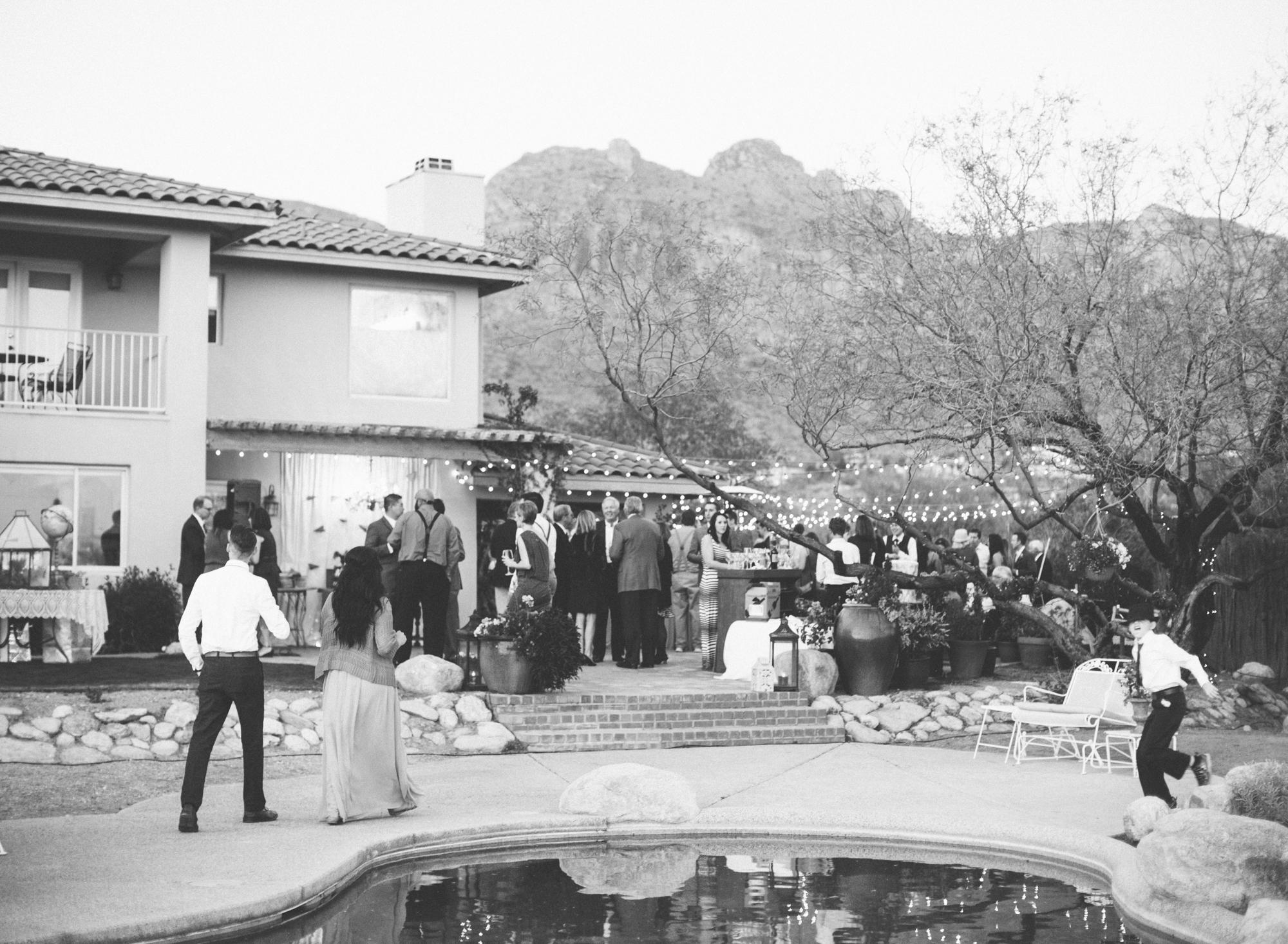 Tucson backyard wedding
