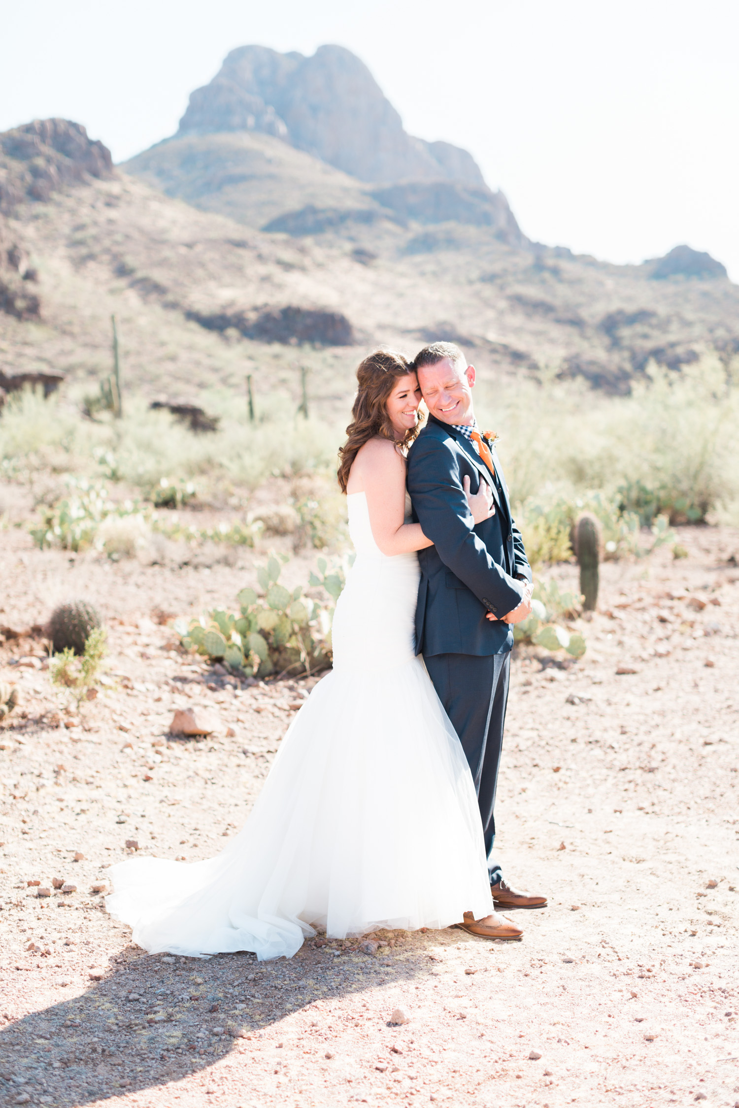 Stardance is the perfect spot for a desert wedding! Gorgeous Tucson mountain views, saguaro and prickly pear in the background.