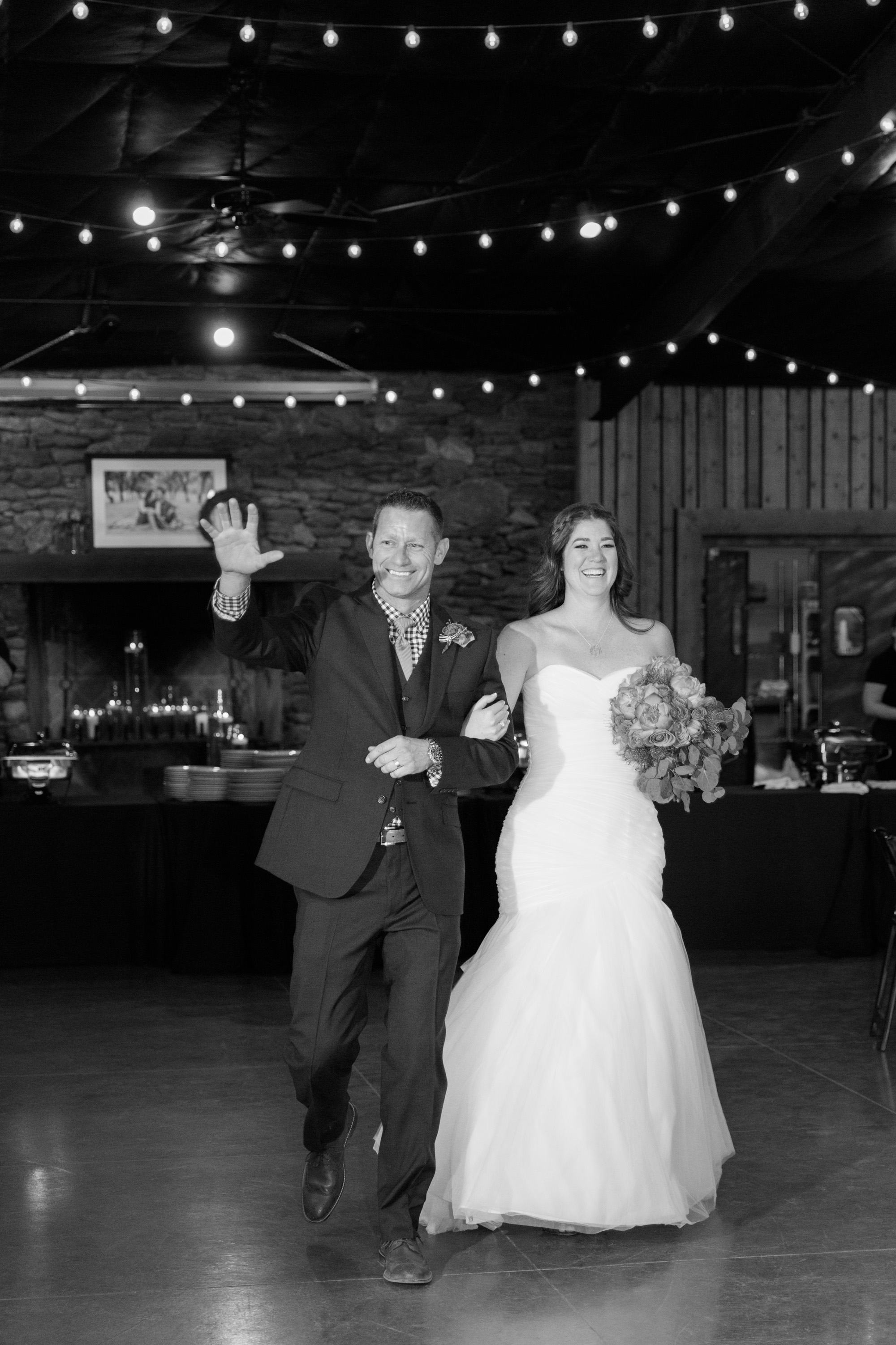 Bride and groom's grand entrance into the reception.