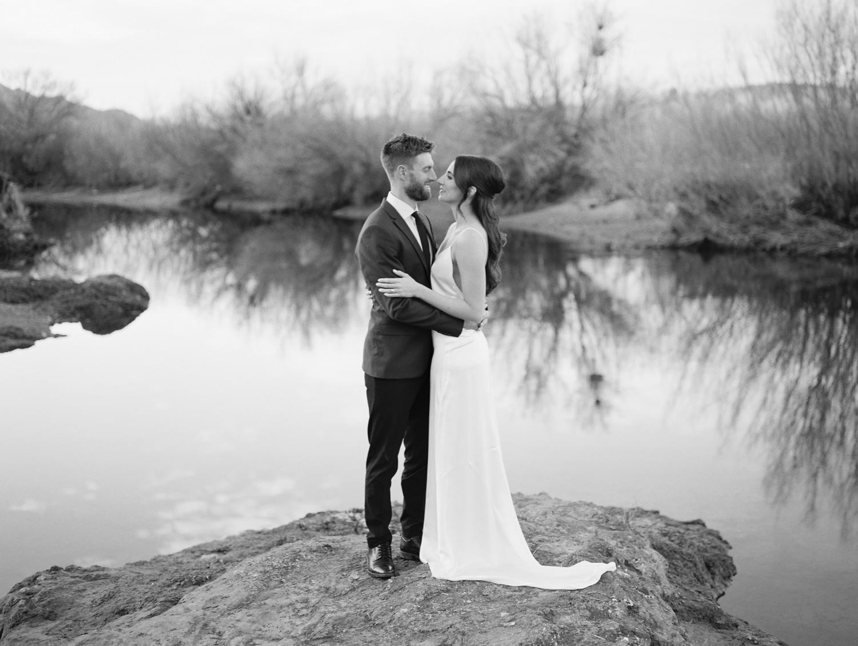 Romantic Phoenix Elopement along the salt river by Phoenix wedding Photographers, Betsy & John
