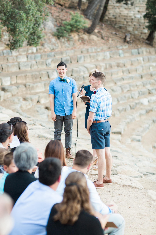 Wedding ceremony at the amphitheater on Mount Tamalpais