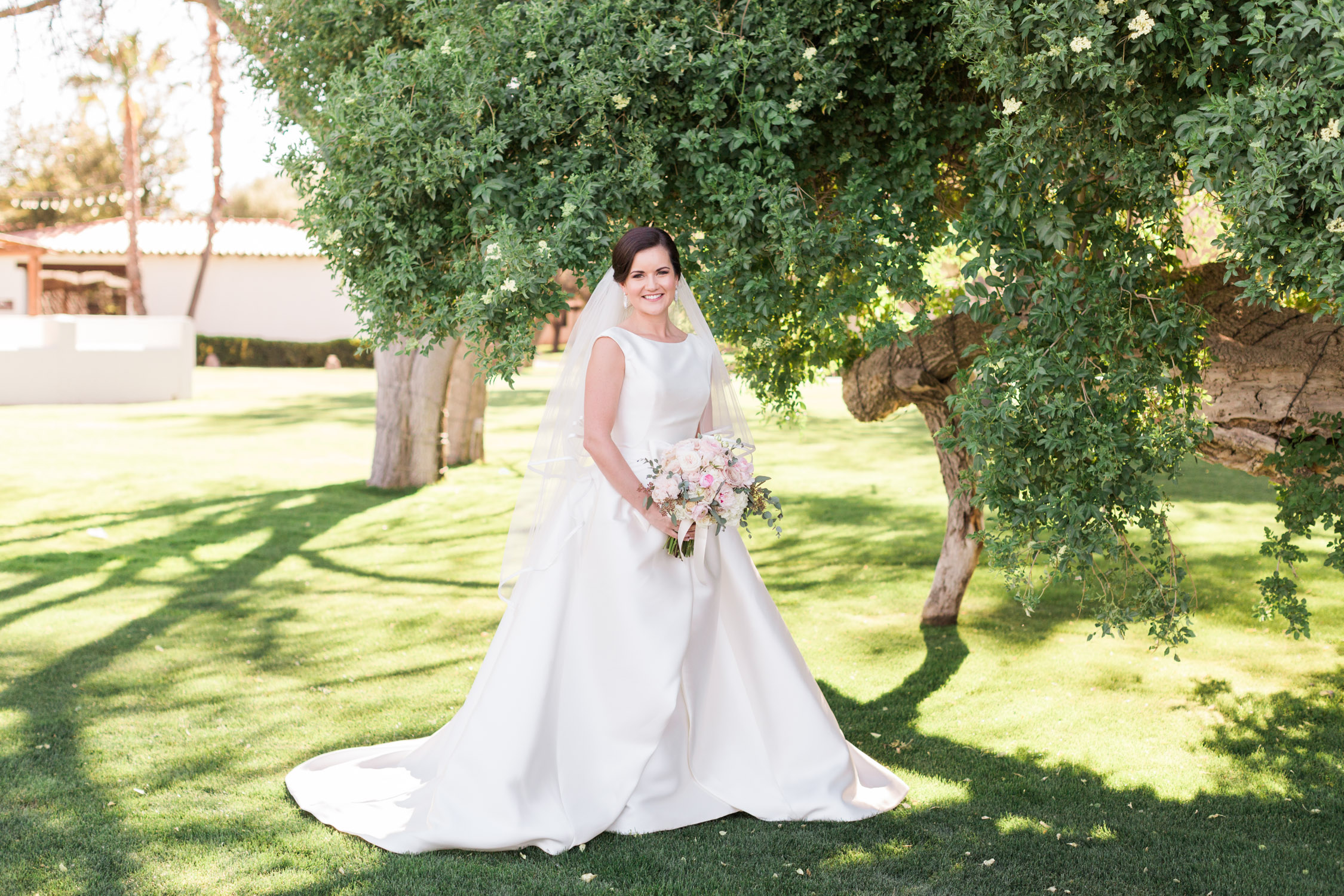 Stunning bride in Pronovias gown from Gigi Bridal in Tucson.