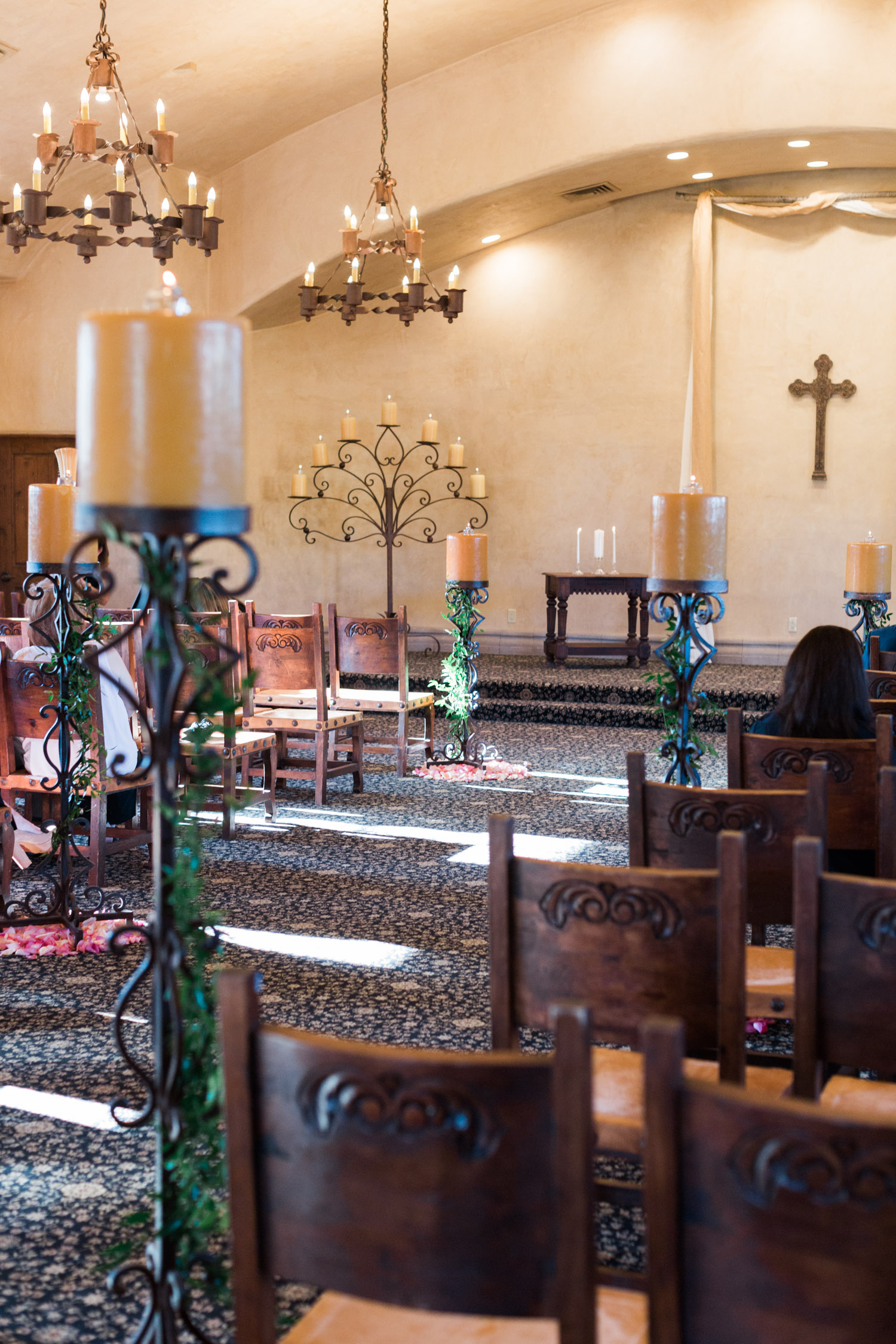 Inside the chapel at Tubac Golf resort