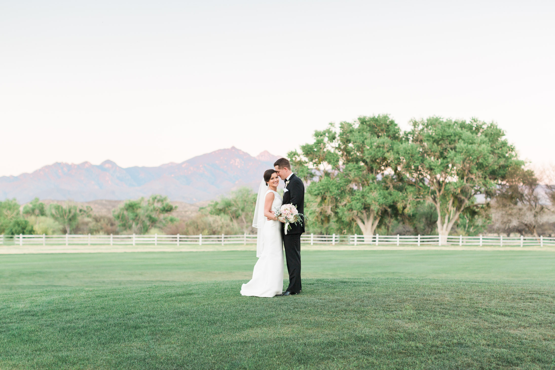 Stunning bride and groom captured by trendy Tucson wedding photographers, Betsy & John