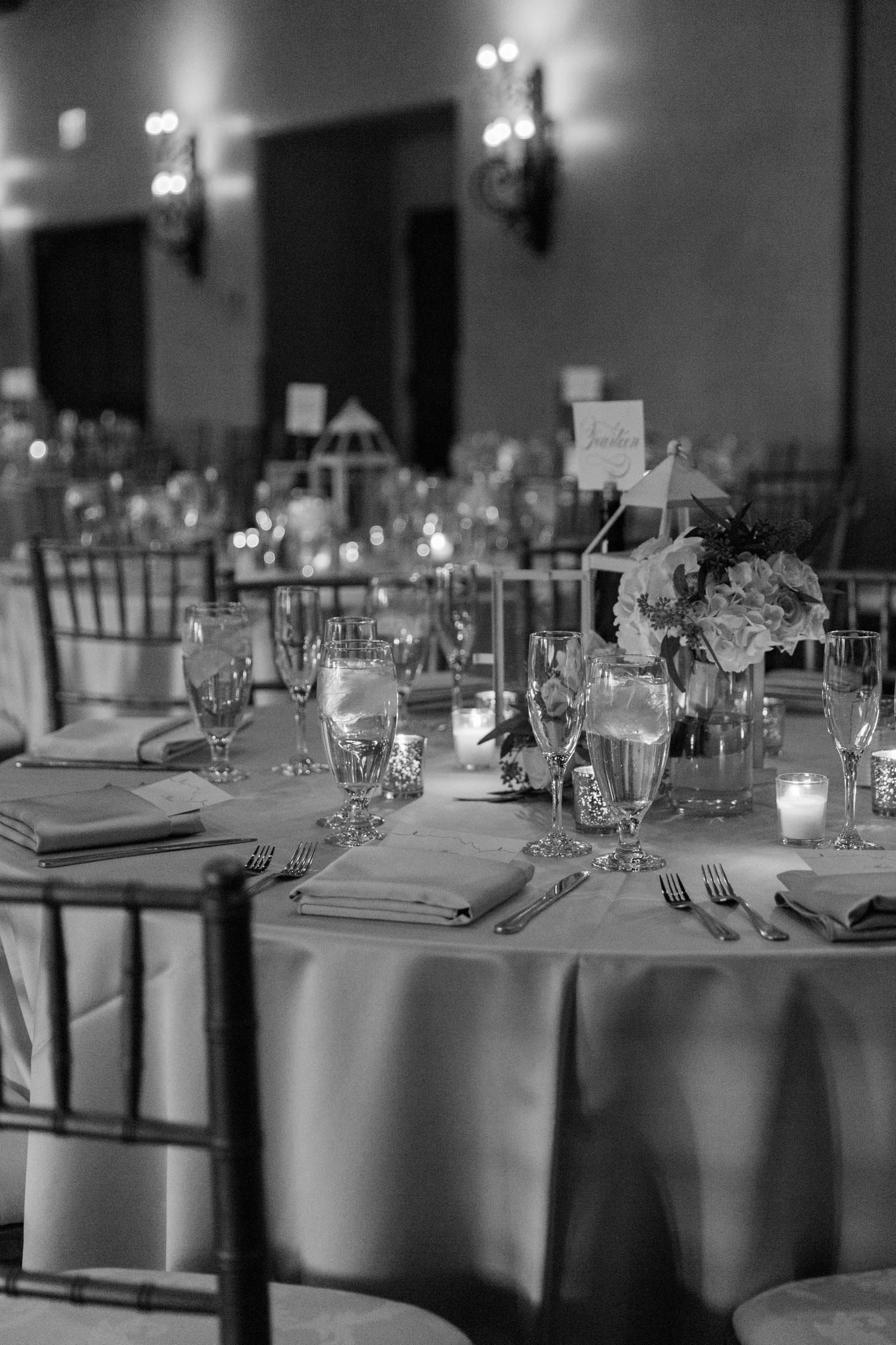 Romantic reception set up