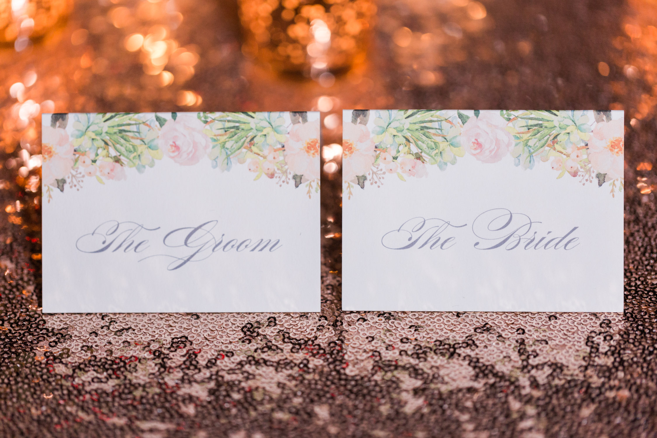 Beautiful place cards designs by Brie Dumais Designs