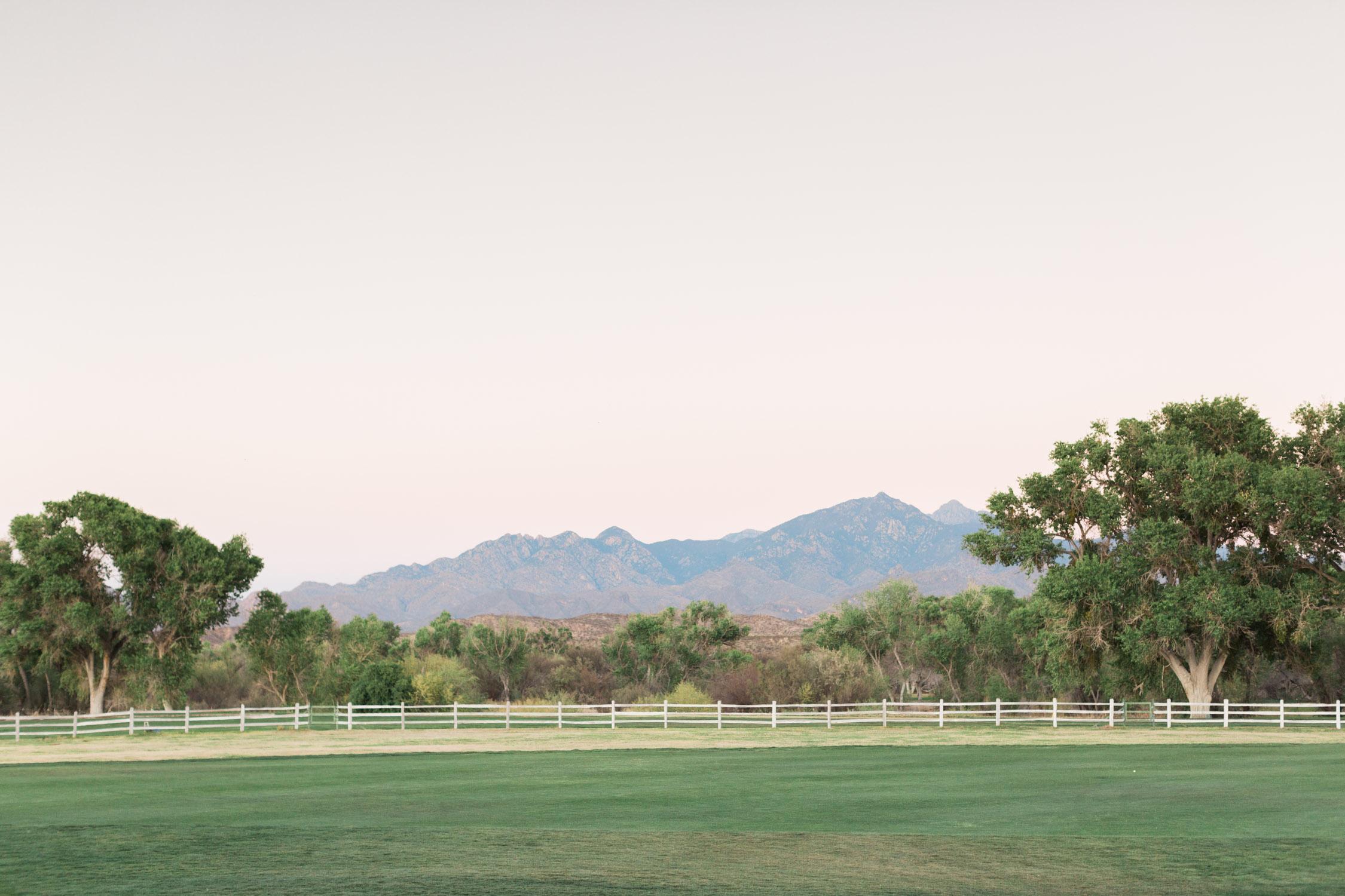 Beautiful views at Tubac Golf Resort for Alyssa & Dave's wedding planned by Rackel Ghelsen Weddings!