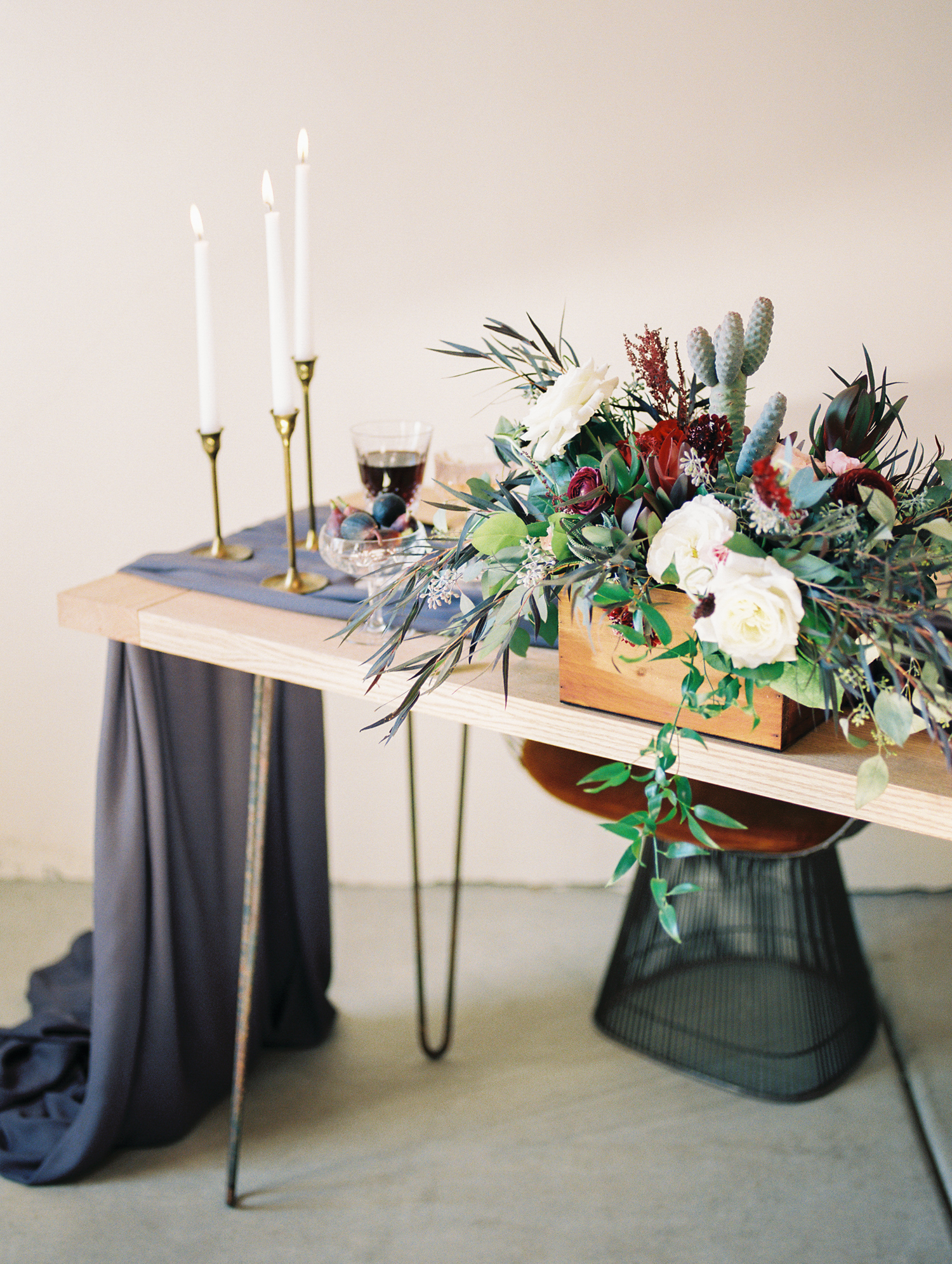 Romantic fall wedding tablescape