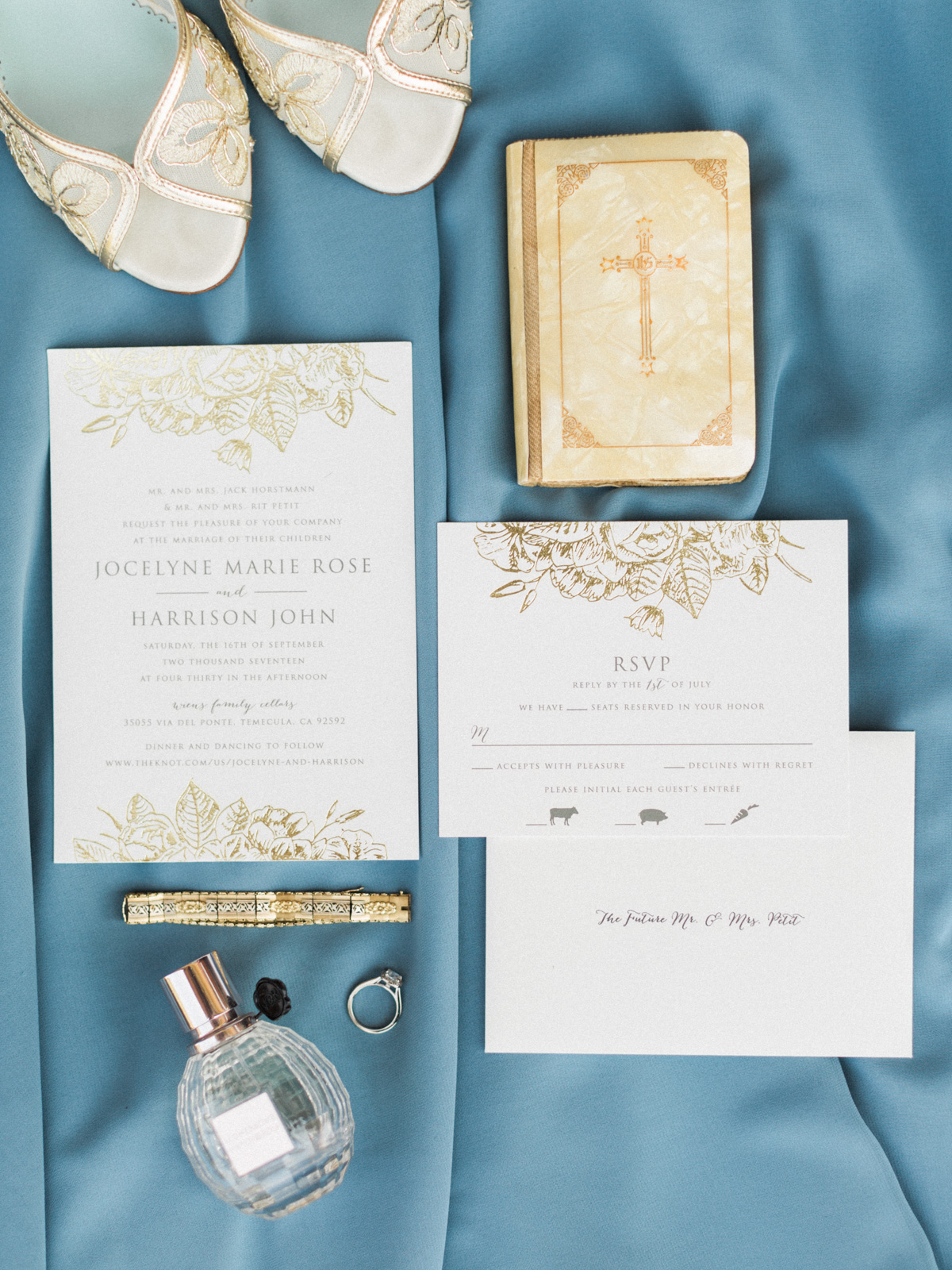 Beautiful wedding invitation from Minted.com! Harrison & Jocelyne's gorgeous Temecula wedding at Wiens Family Cellars captured by Betsy & John Photography