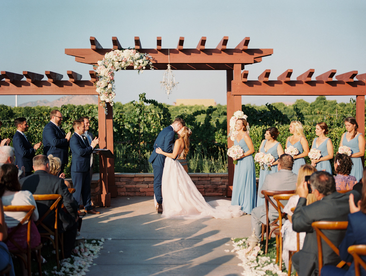 Harrison & Jocelyne's gorgeous Temecula wedding at Wiens Family Cellars captured by Betsy & John Photography